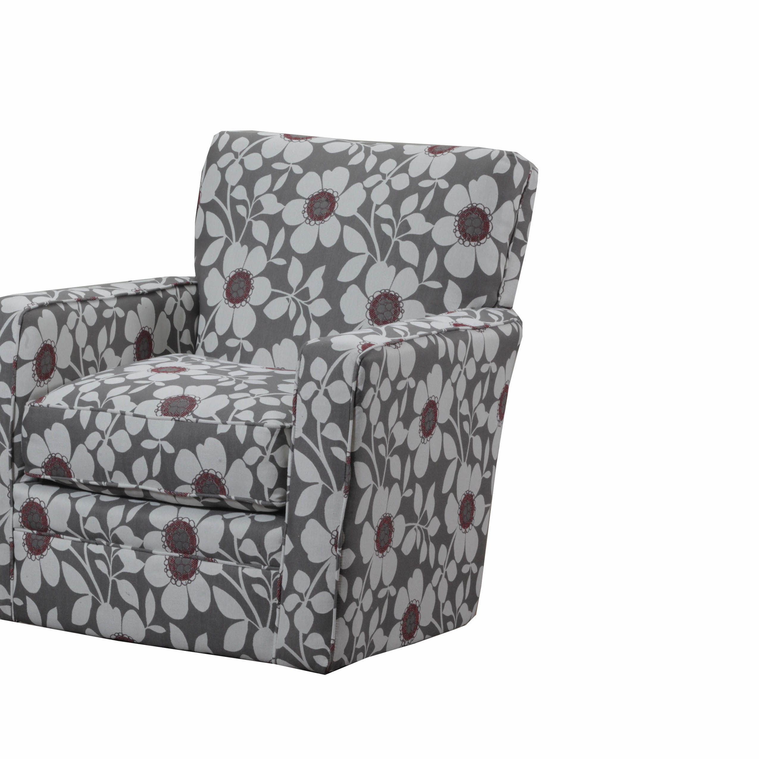 Preferred Latitude Run Simmons Upholstery Katrina Swivel Glider & Reviews Inside Katrina Grey Swivel Glider Chairs (View 13 of 20)