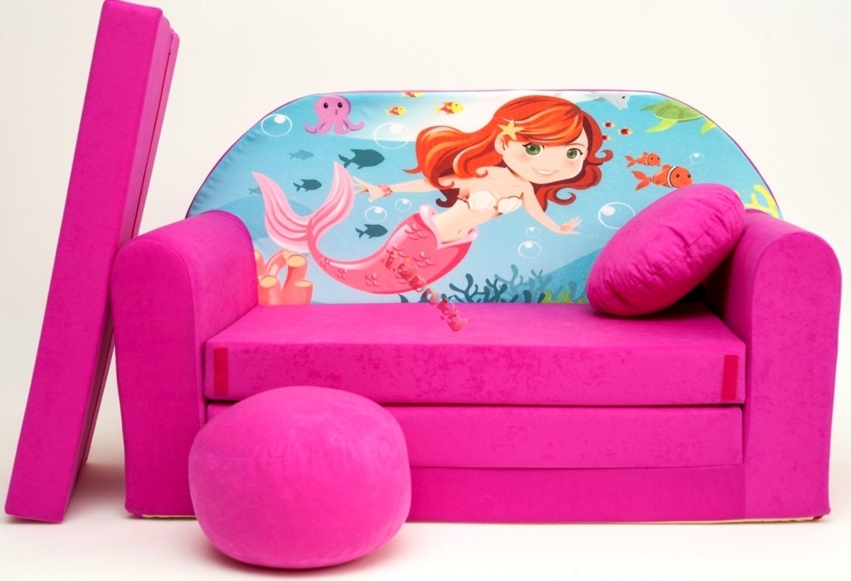 Preferred Little Mermaid Children's Sofa Bed – Banaby (View 7 of 20)