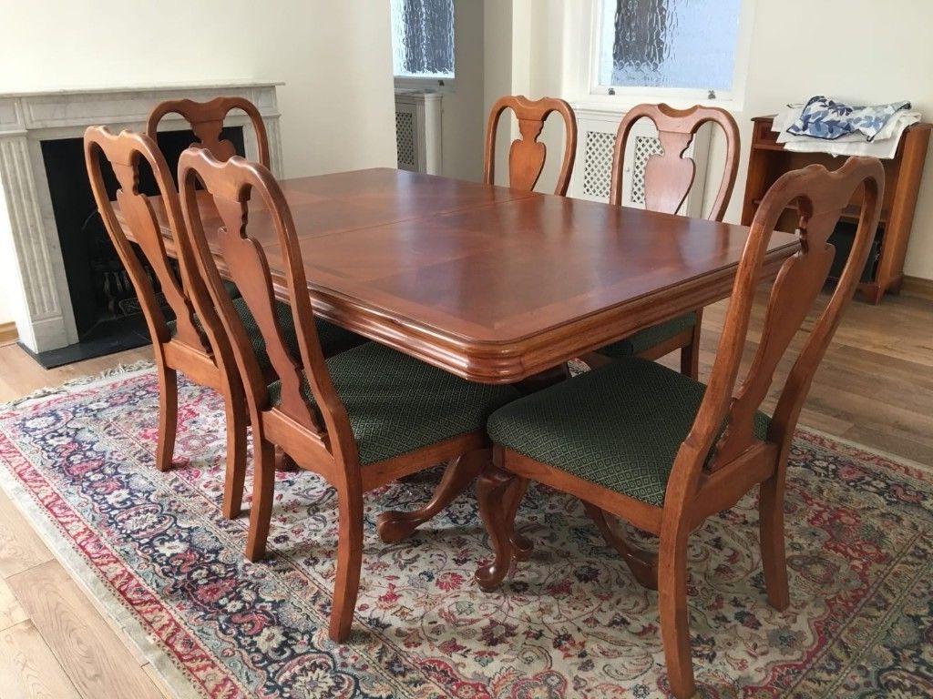 Preferred Quality Extendable Dining Table, 8 Chairs, Dresser, Coffee Table Inside Dining Table With Sofa Chairs (Gallery 8 of 20)