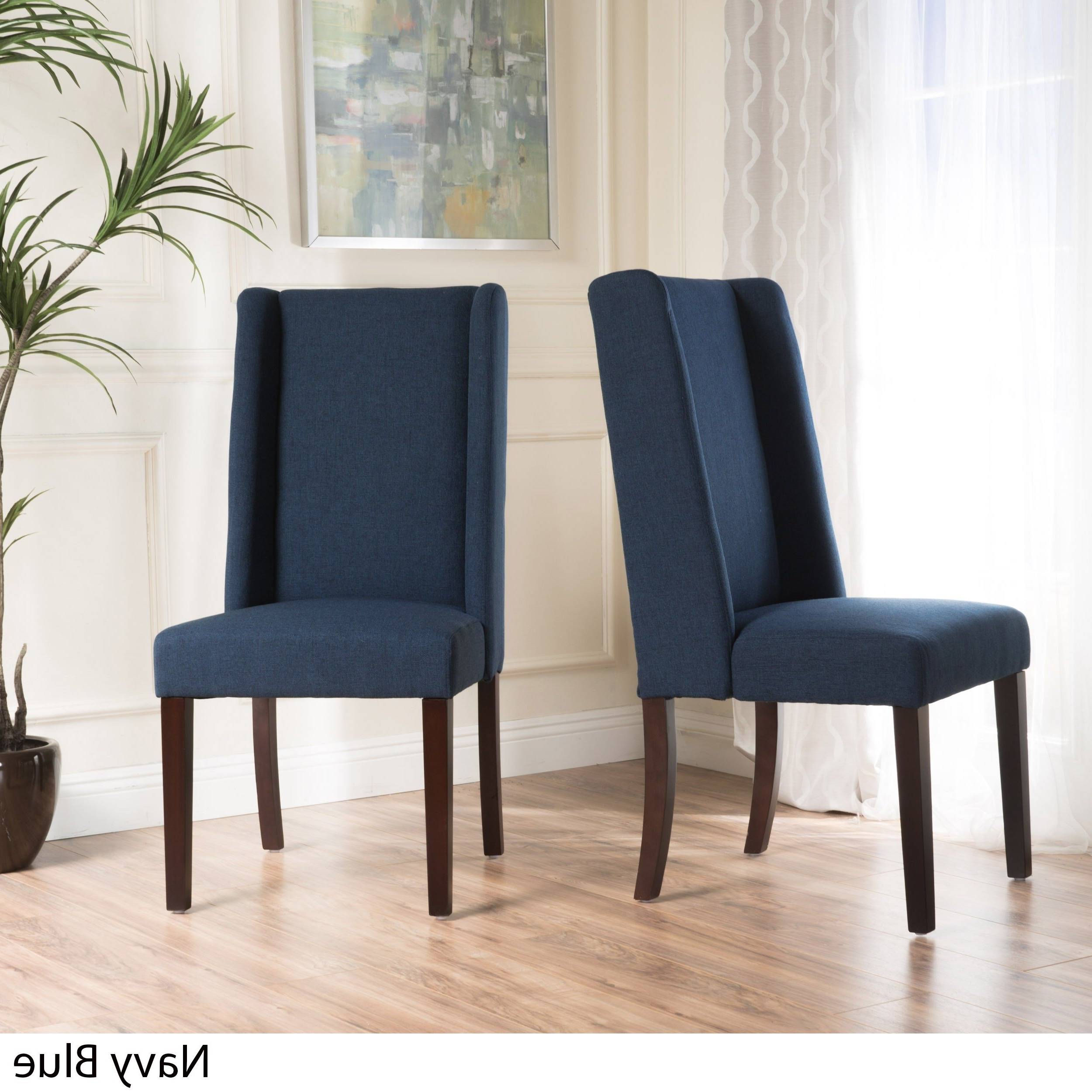 Preferred Shop Rory Wing Back Fabric Dining Chair (set Of 2)christopher Regarding Rory Sofa Chairs (View 9 of 20)