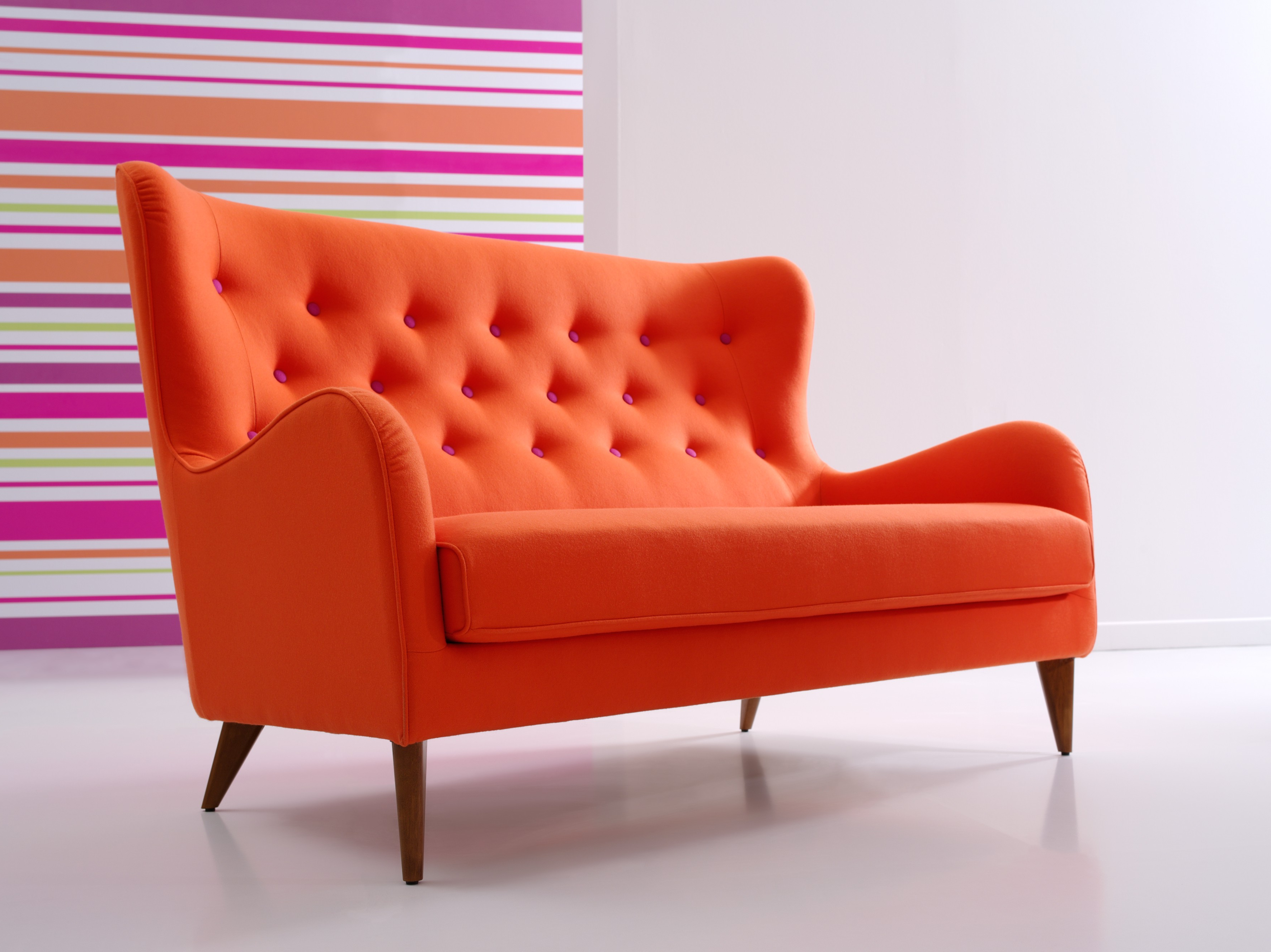 Preferred Sofa With Romantic Modern Color Combine Curve Arm And Backrest Plus With Orange Sofa Chairs (Gallery 11 of 20)