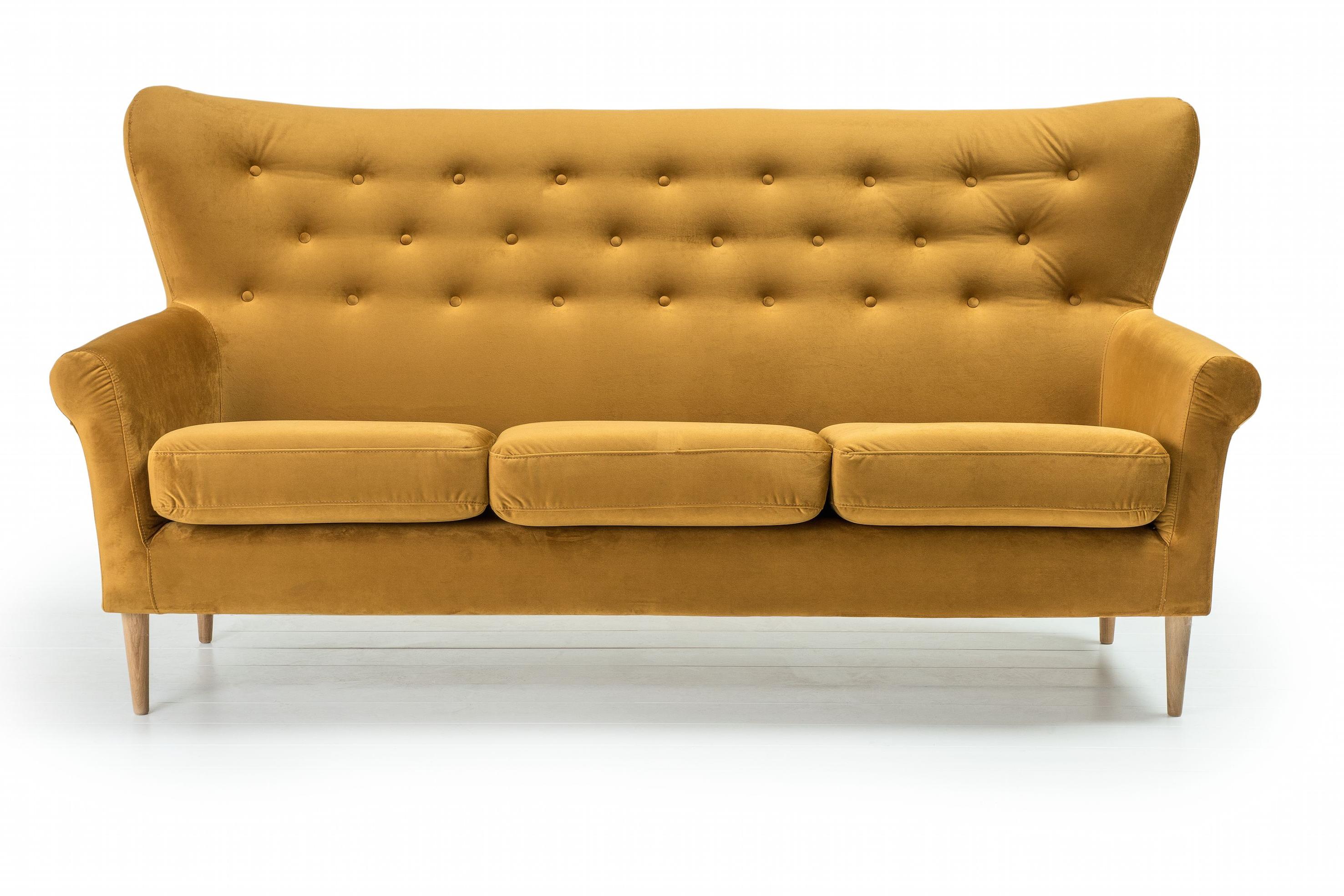 Preferred Stylish Modern Sofa With Buttons And The Wing Arms, Perfect For Loft For Loft Arm Sofa Chairs (Gallery 1 of 20)