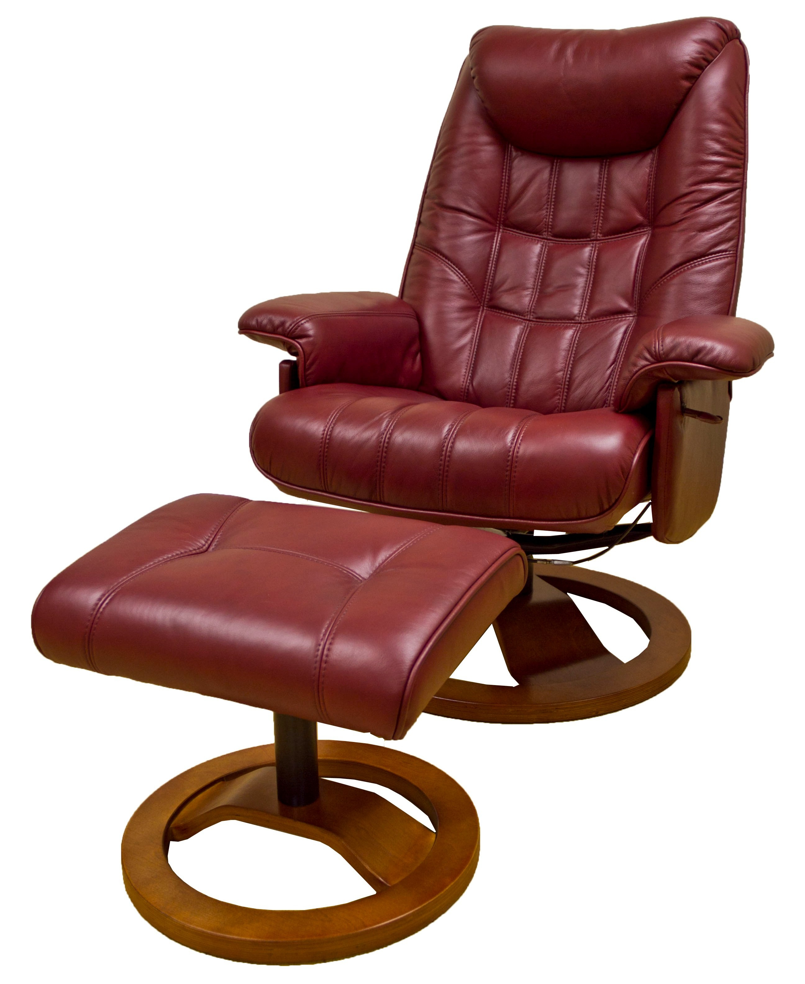 Probably Outrageous Nice Leather Reclining Armchair And Footstool Throughout Most Up To Date Amala Bone Leather Reclining Swivel Chairs (View 18 of 20)