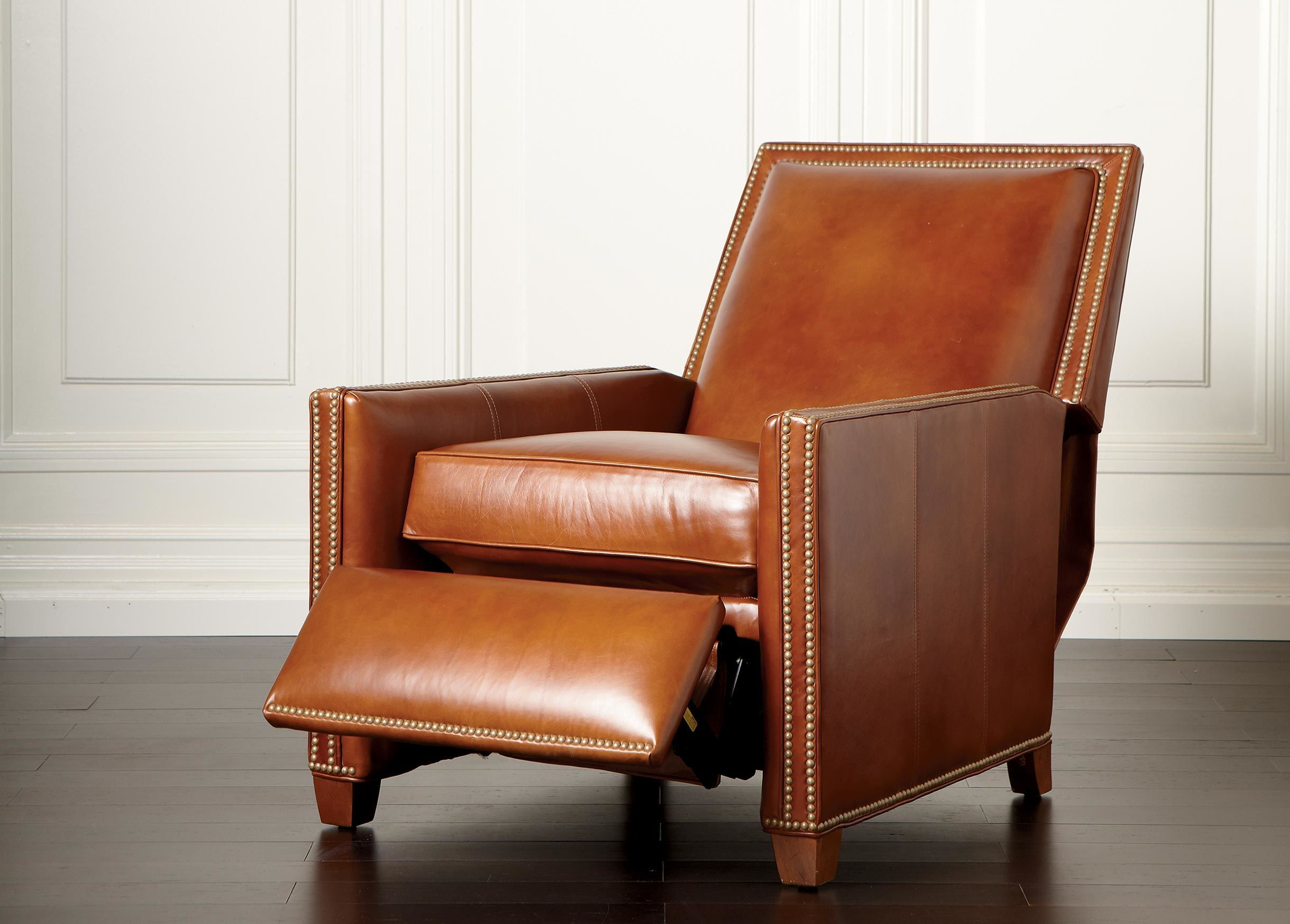 Randall Leather Recliner – Ethan Allen Www.holmanhousefurniture Pertaining To 2018 Swivel Tobacco Leather Chairs (Gallery 9 of 20)
