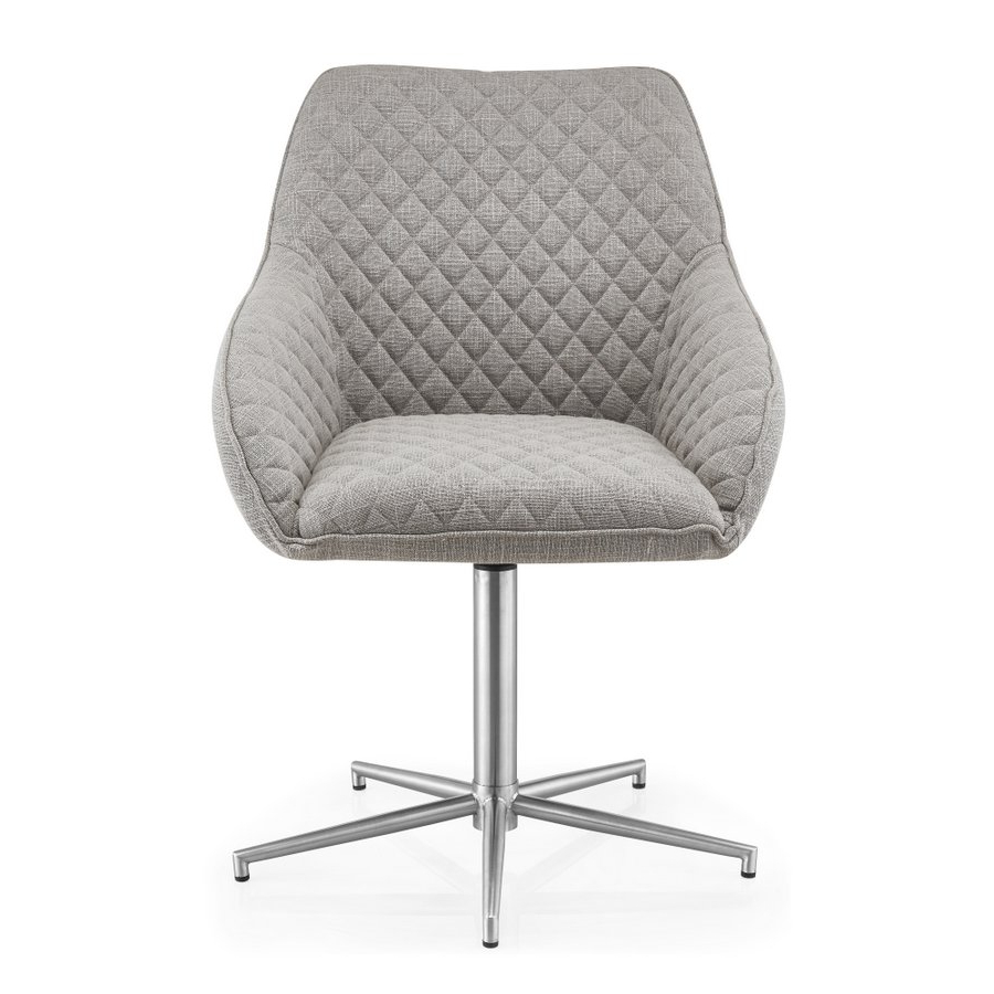 Recent Abdabs Furniture – Wolf Grey Swivel Dining Chairs – Pair Within Grey Swivel Chairs (Gallery 15 of 20)