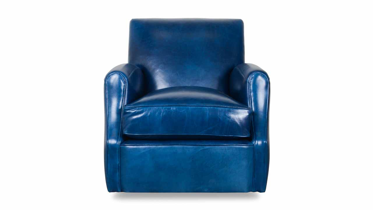 Recent Blue Leather Swivel Chair – Myvaettelwater – With Regard To Kawai Leather Swivel Chairs (View 8 of 20)