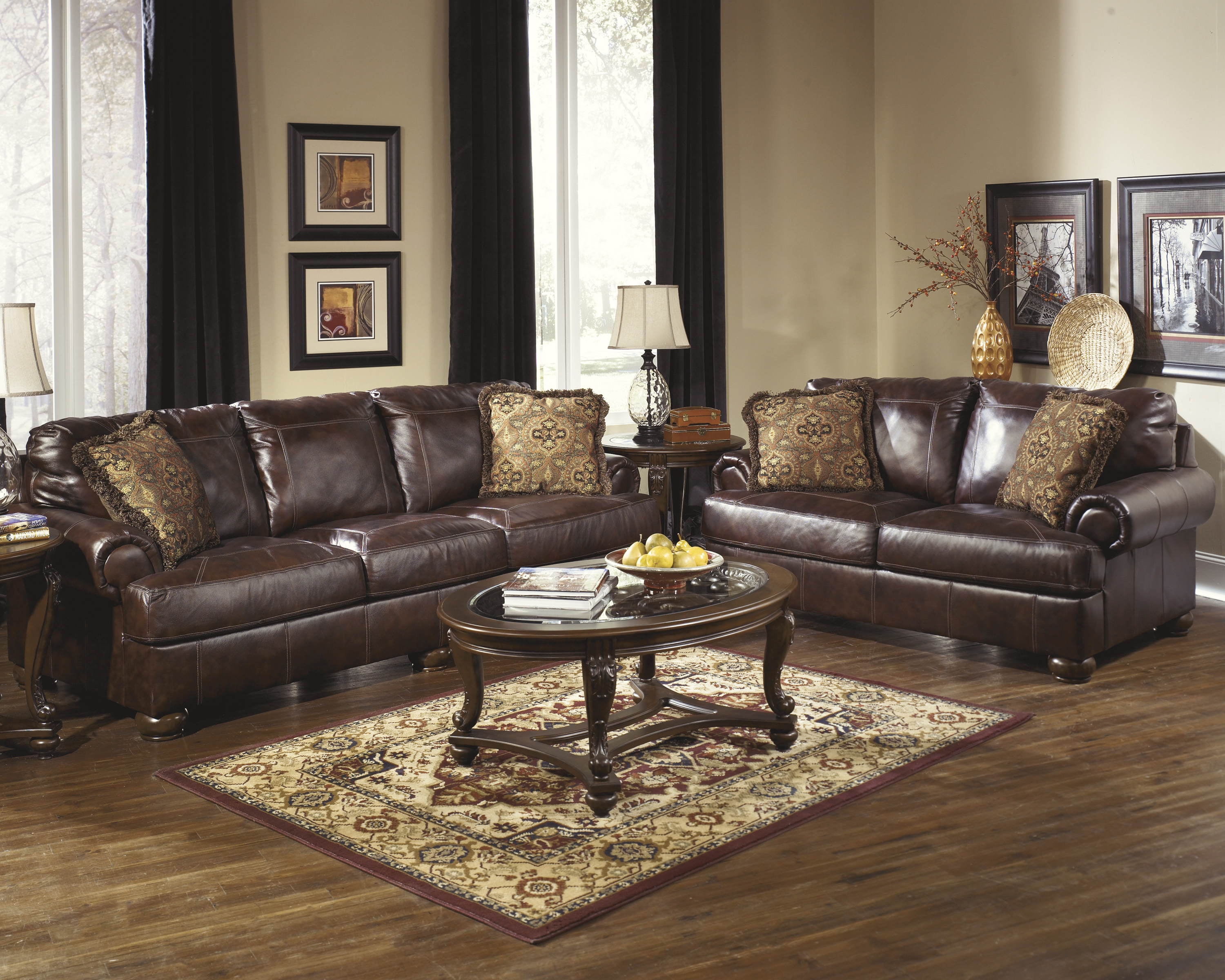 Recent Cheap Ashley Furniture Leather Sofa Sets In Glendale, Ca Regarding Living Room Sofas And Chairs (View 19 of 20)