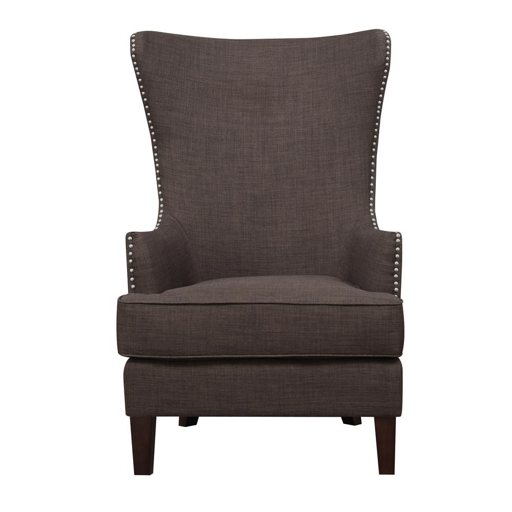Recent Devon Ii Swivel Accent Chairs Regarding Kegan Chocolate Accent Chair Ukr081100 – The Home Depot (View 14 of 20)