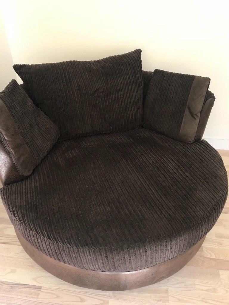 Recent Fabric Sofa & Swivel Chair Dfs Chocolate Brown (View 16 of 20)