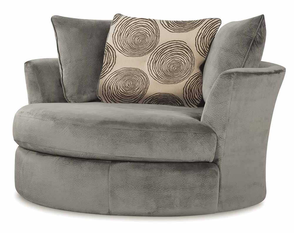 Recent Harbor Grey Swivel Accent Chairs Inside Groovy Smoke Swivel Chair (View 19 of 20)
