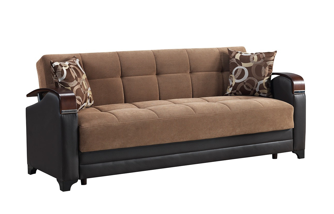 Recent Linda Sofa Bed Marissa Brown – Sofa Beds Star Modern Furniture Intended For Marissa Sofa Chairs (Gallery 12 of 20)