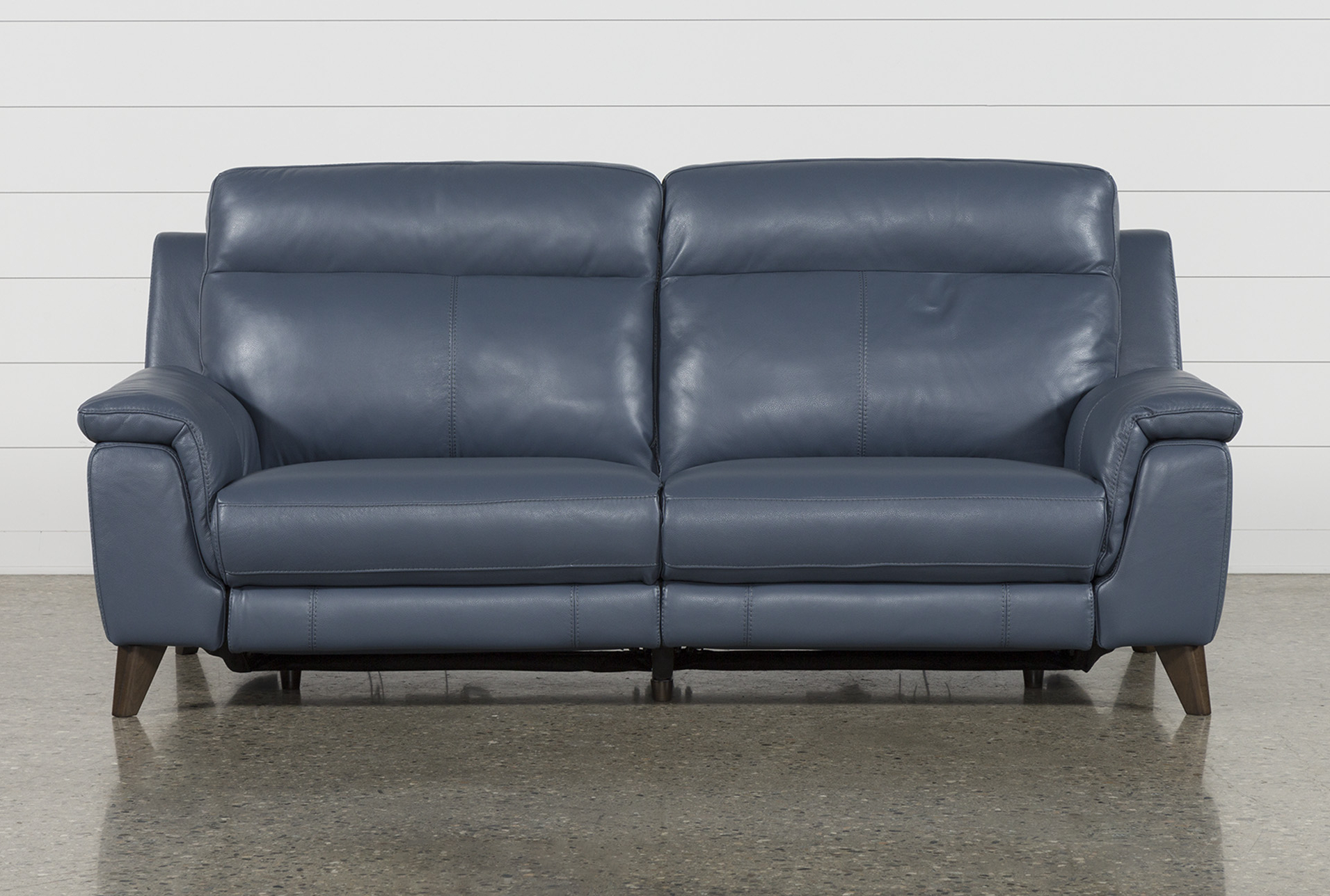 Recent Moana Blue Leather Power Reclining Sofa Chairs With Usb Throughout Moana Blue Leather Dual Power Reclining Sofa With Usb In (View 3 of 20)