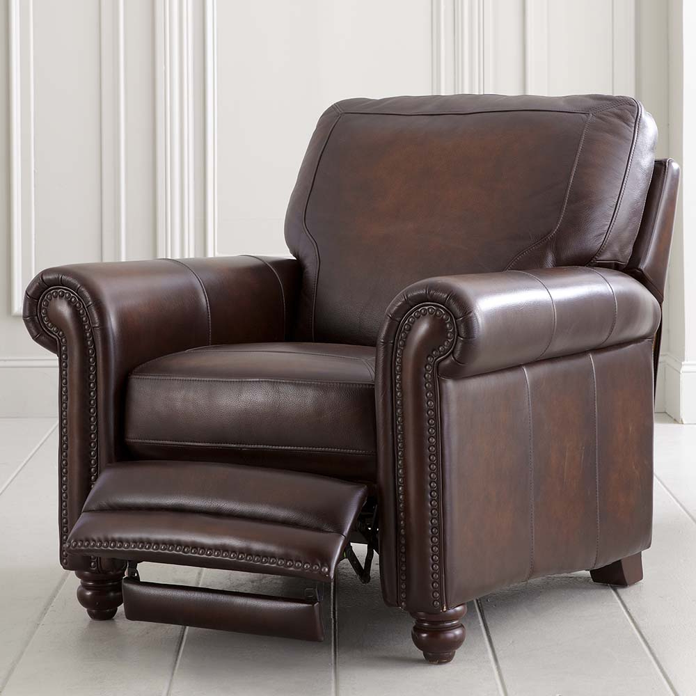 Recent Old World Brown Leather Recliner (Gallery 7 of 20)