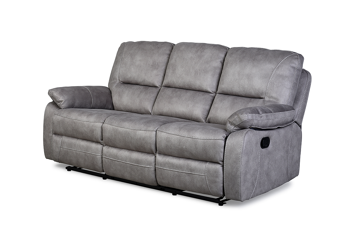 Recliner Sofa Chairs With Well Liked Houston Light Grey 3 Seater Recliner Sofa – Furniture Stores Ireland (View 3 of 20)