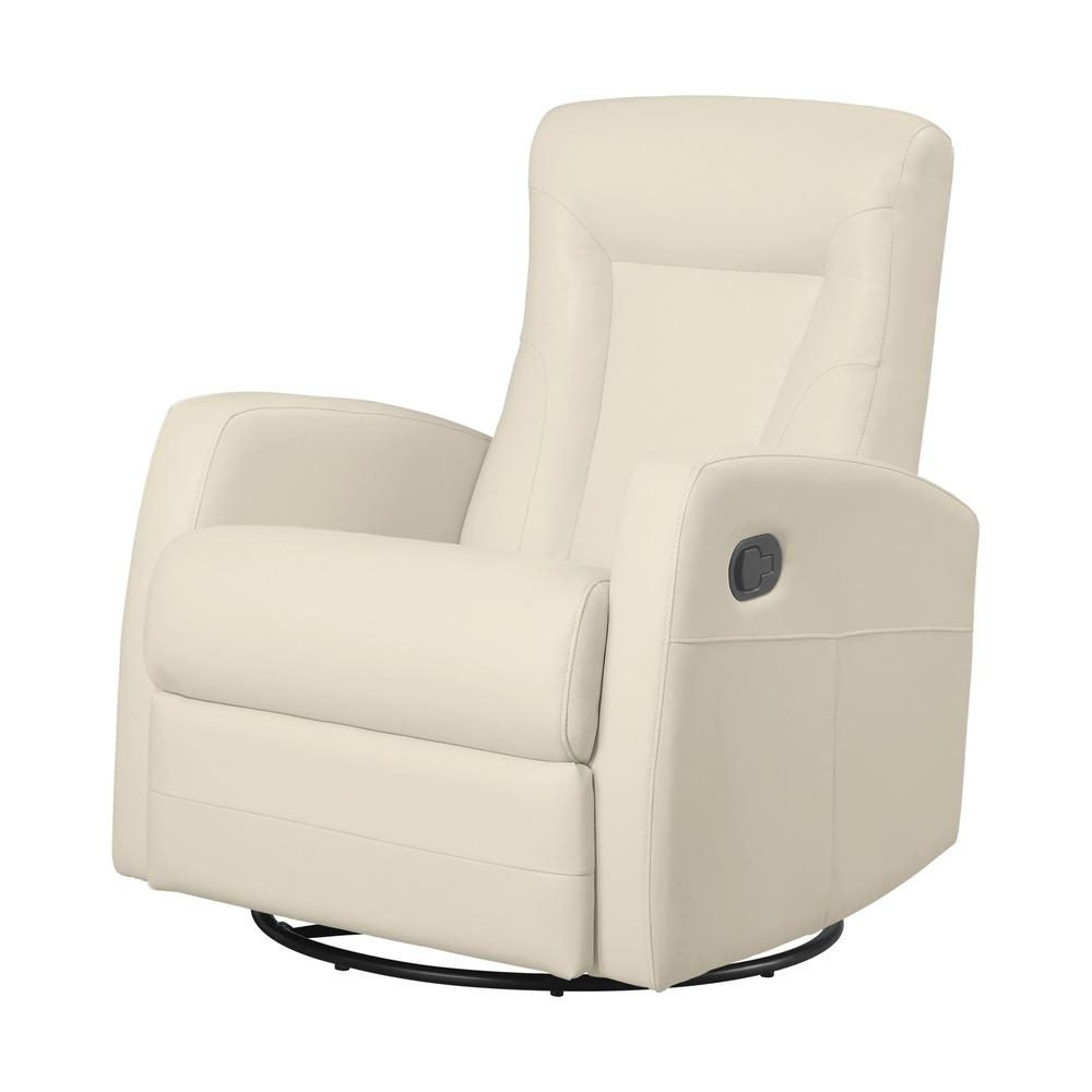 Recliner – Swivel Rocker / Ivory Bonded Leather Inside 2019 Hercules Chocolate Swivel Glider Recliners (View 19 of 20)