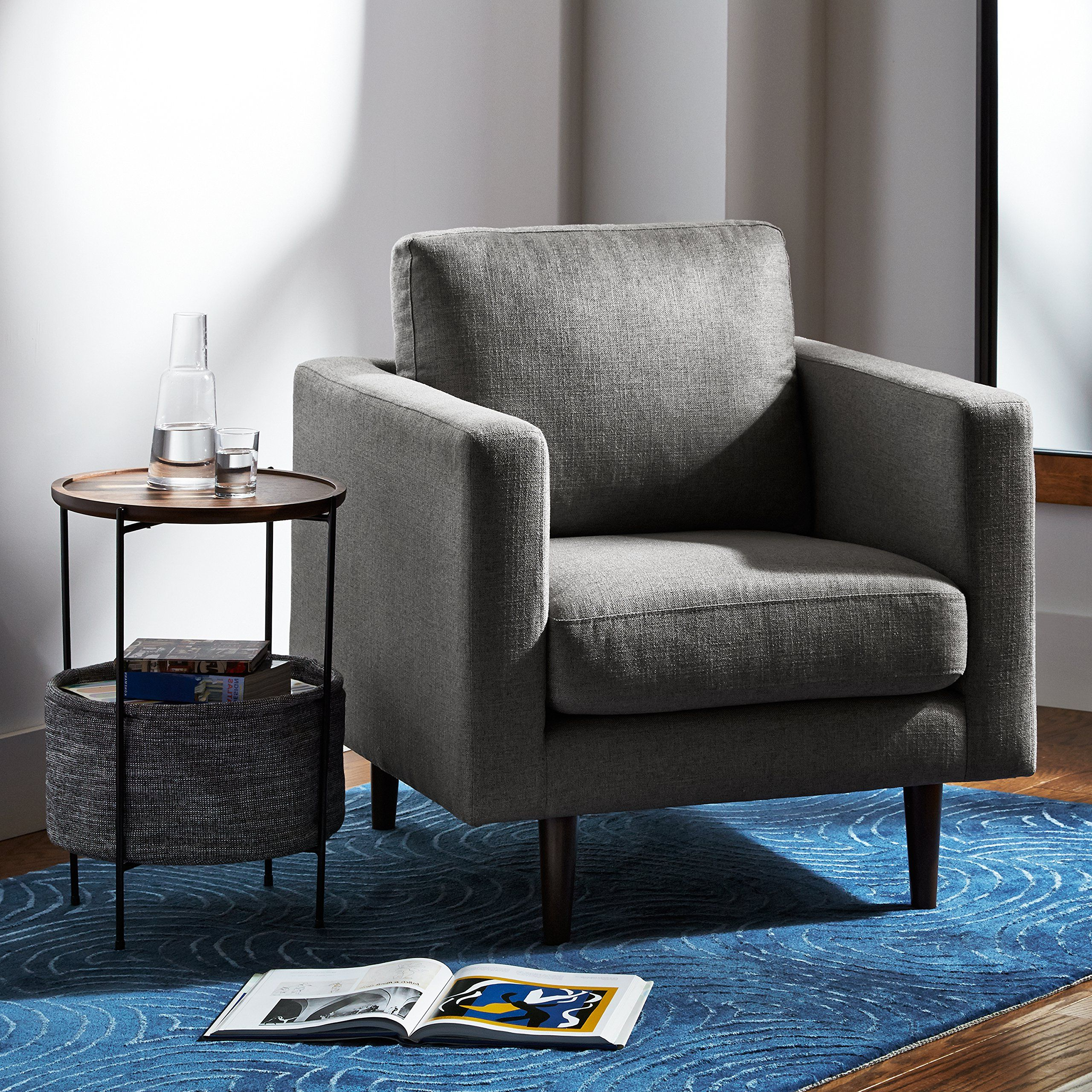 Rivet Revolve Modern Accent Chair Grey Weave >>> Click Image For In Well Known Revolve Swivel Accent Chairs (View 15 of 18)