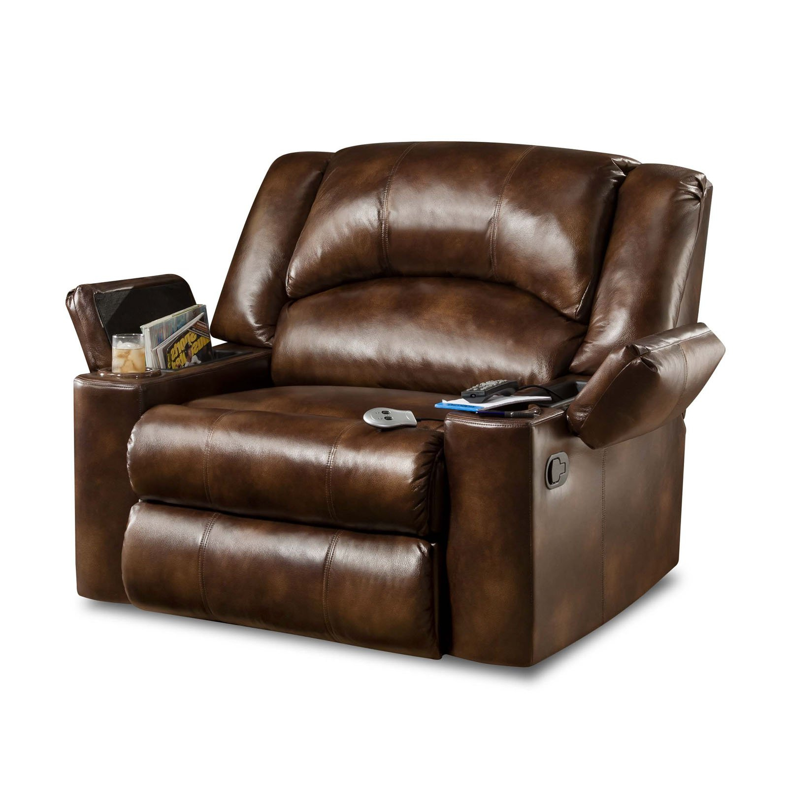Rogan Leather Cafe Latte Swivel Glider Recliners Throughout Trendy Furniture: Surprising Simmons Recliners For Contemporary Living Room (View 17 of 20)