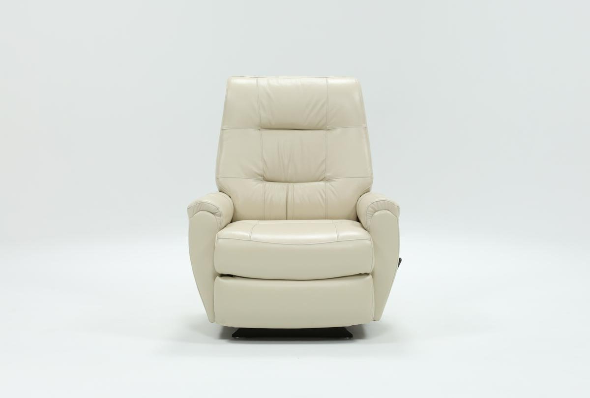 Rogan Leather Cafe Latte Swivel Glider Recliners With Regard To 2018 Rogan Leather Chalk Rocker Recliner (View 2 of 20)