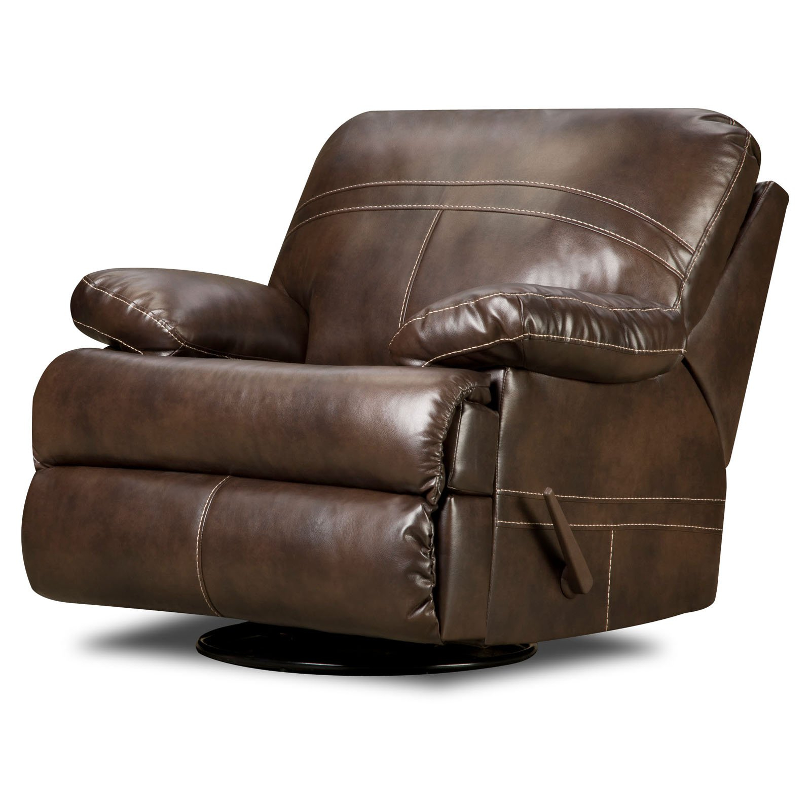 Rogan Leather Cafe Latte Swivel Glider Recliners Within Preferred Furniture: Surprising Simmons Recliners For Contemporary Living Room (View 8 of 20)
