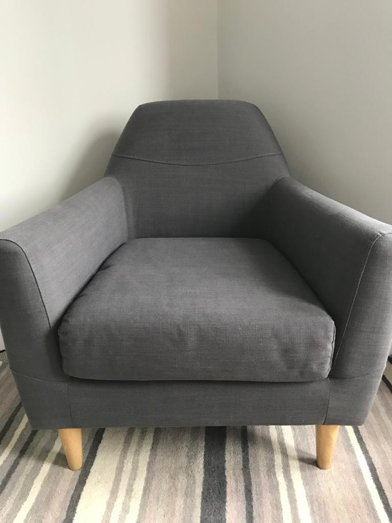 Rory Sofa Chairs Intended For Latest John Lewis Rory Armchair, Grey, As New Condition (View 18 of 20)