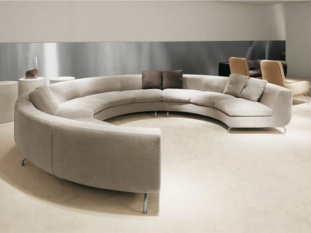 Round Sofa Chairs With Fashionable Modern Full Round Sofa Furniture – Choosing The Right A Round Sofa (View 11 of 20)