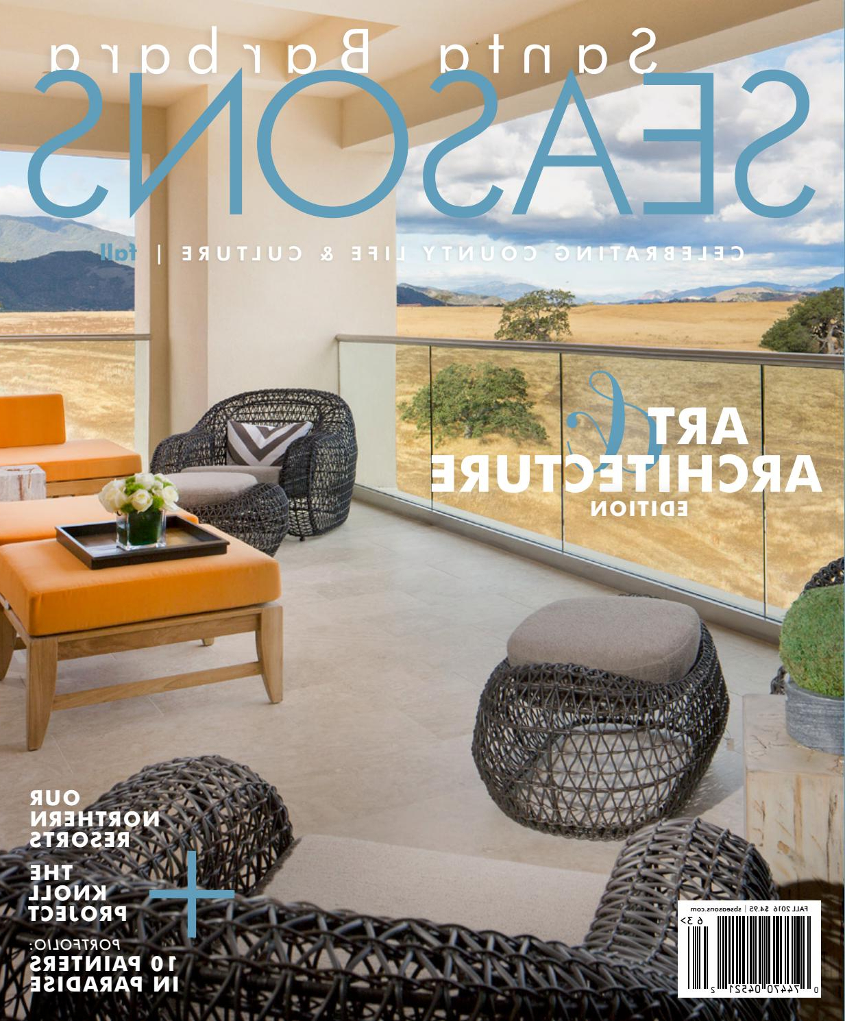 Santa Barbara Seasons Magazine, Fall 2016Sbseasons – Issuu Within Most Recently Released Chadwick Tomato Swivel Accent Chairs (Gallery 13 of 20)