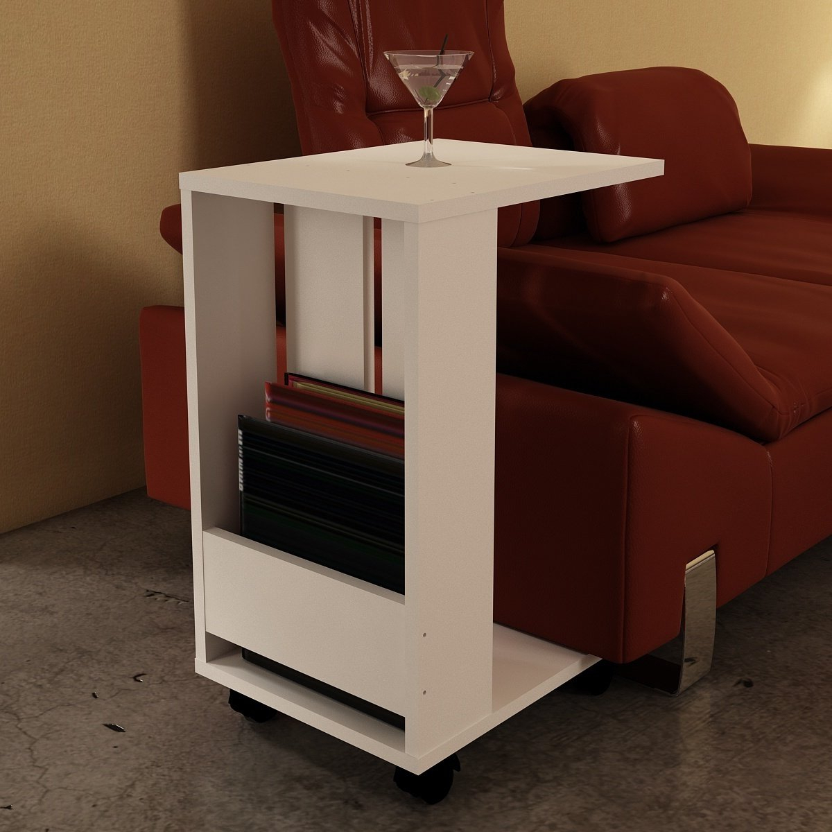 Sheldon White Wood Modern Minimalist Side Table (26 In (View 16 of 20)