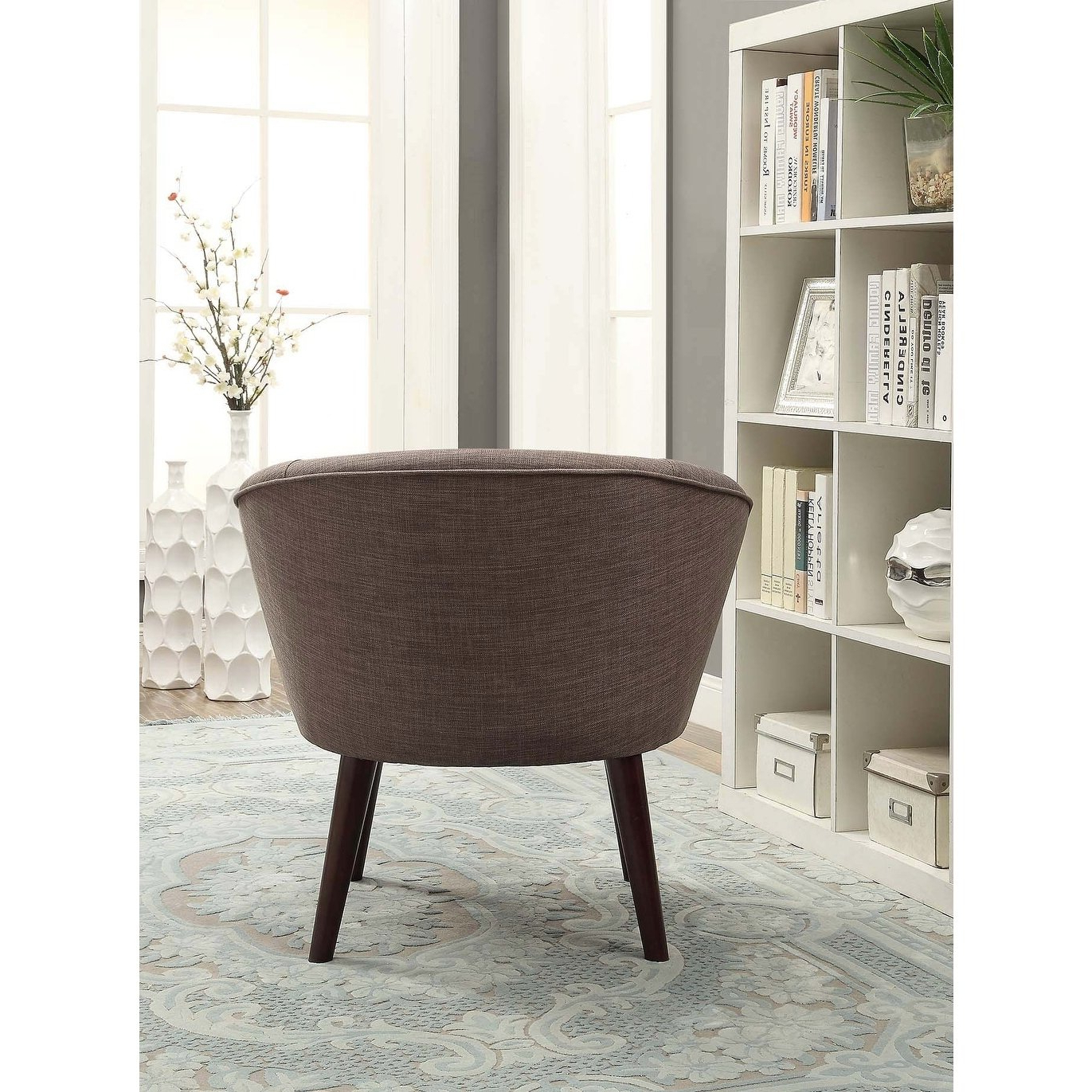 Shop Acme Amari Accent Chair In Stone Gray Linen – Free Shipping With Regard To Most Recent Amari Swivel Accent Chairs (View 20 of 20)