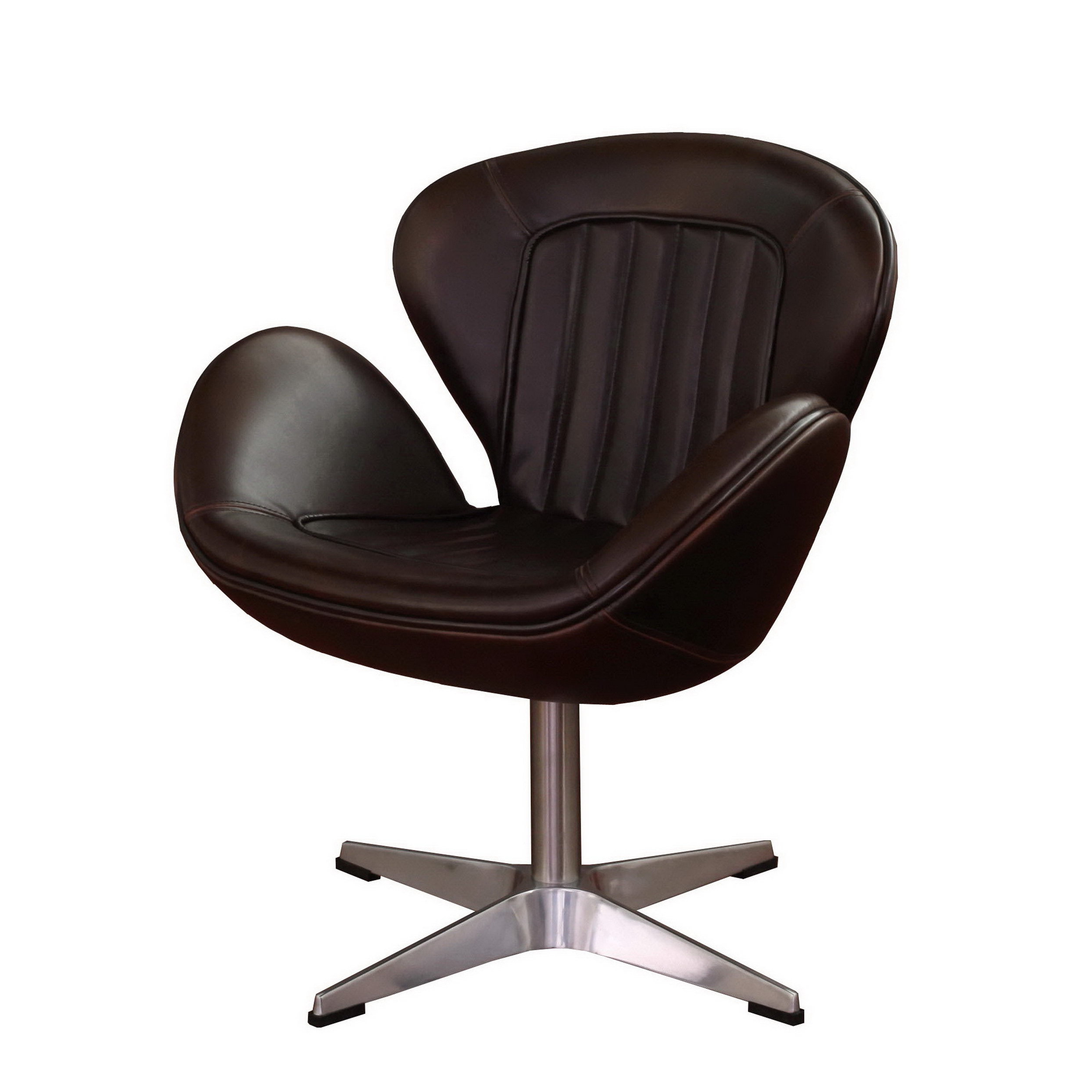 Shop Amelia Vintage Tobacco Leather Swivel Chair – Free Shipping Regarding Most Popular Swivel Tobacco Leather Chairs (View 6 of 20)