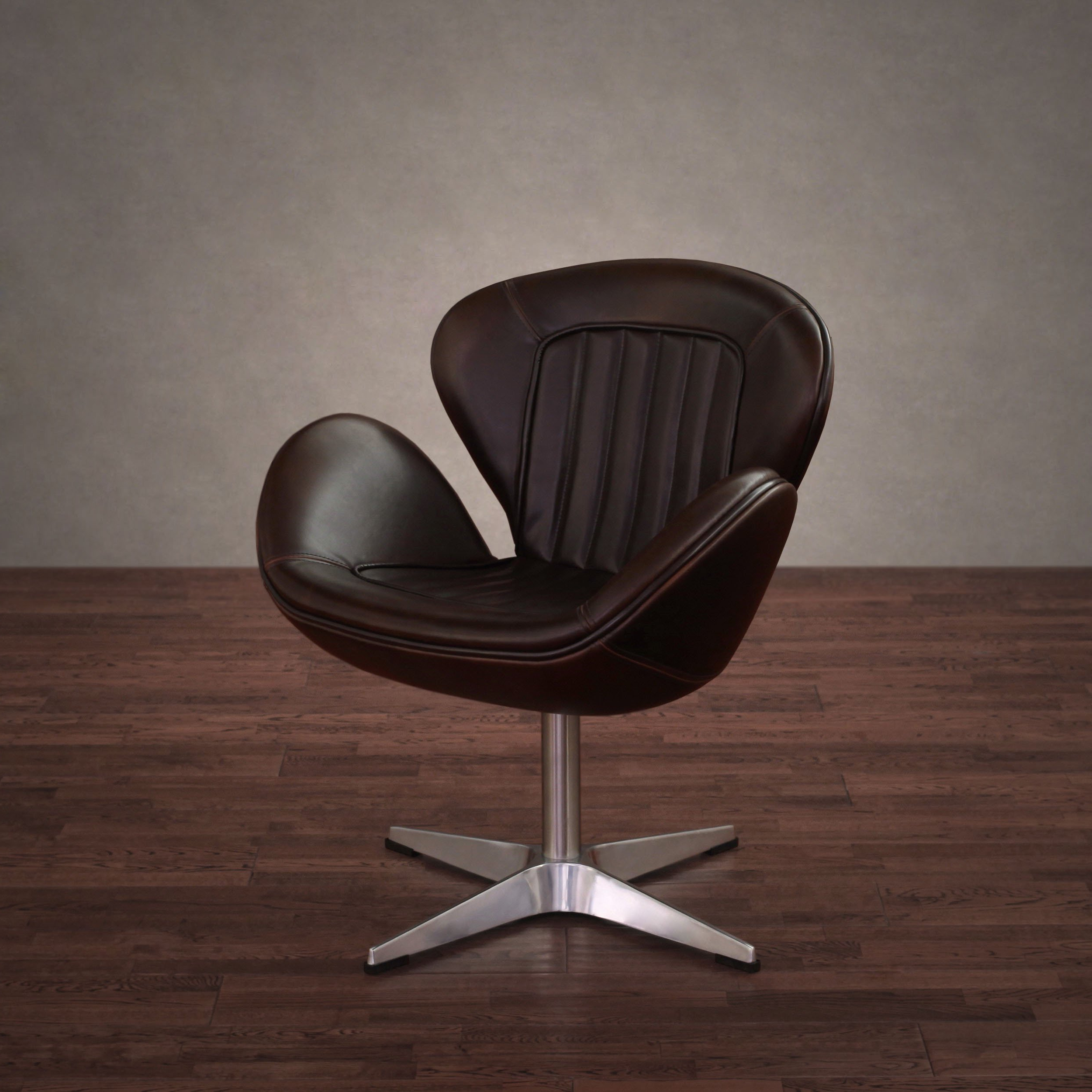 Shop Amelia Vintage Tobacco Leather Swivel Chair – Free Shipping Within Recent Swivel Tobacco Leather Chairs (Gallery 2 of 20)