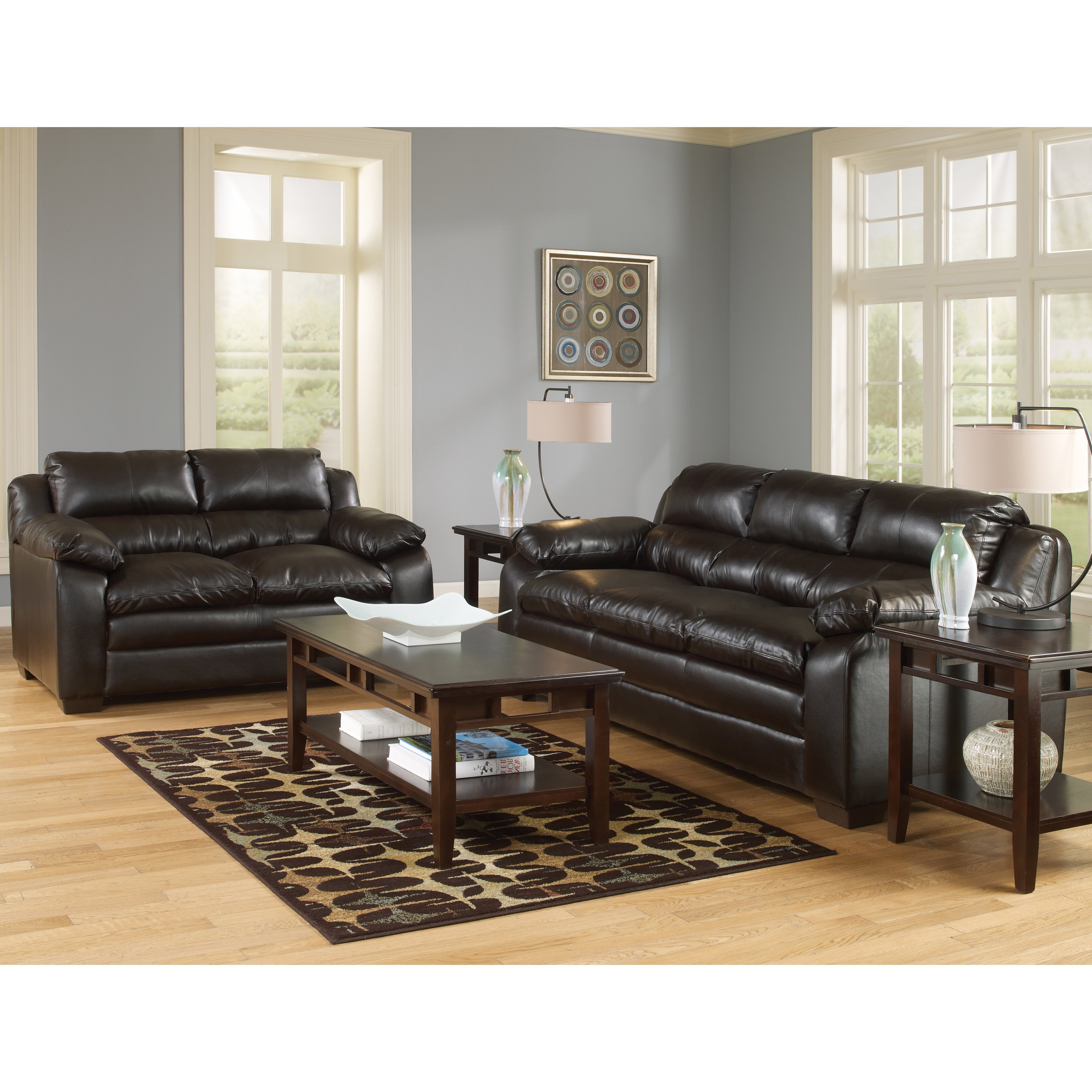 Shop Art Van Maddox Espresso Sofa And Loveseat Set – Free Shipping Throughout Well Known Maddox Oversized Sofa Chairs (View 11 of 20)