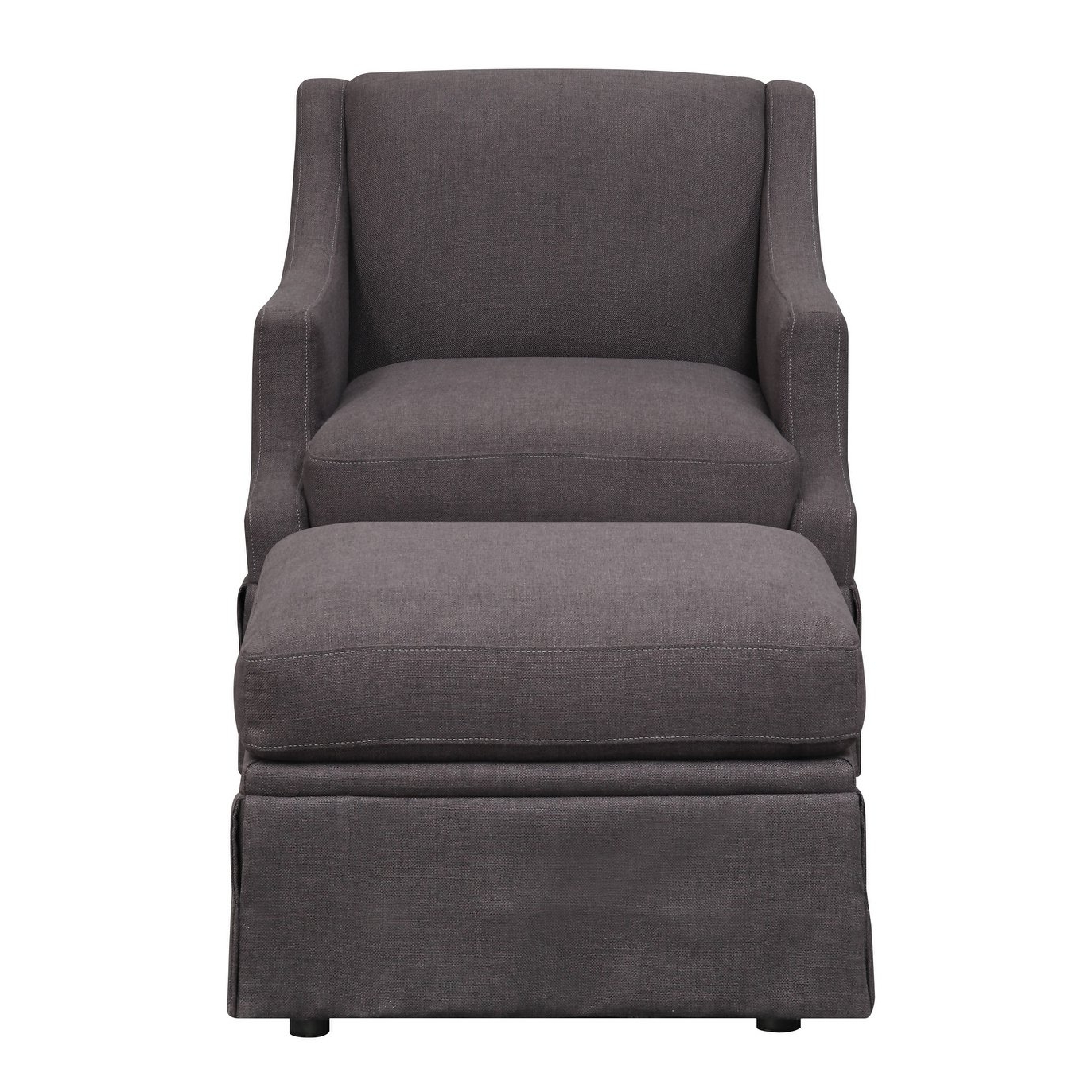 Shop Emerald Home Mckinley Charcoal Swivel Slip Chair And Ottoman With Regard To Most Up To Date Charcoal Swivel Chairs (View 19 of 20)