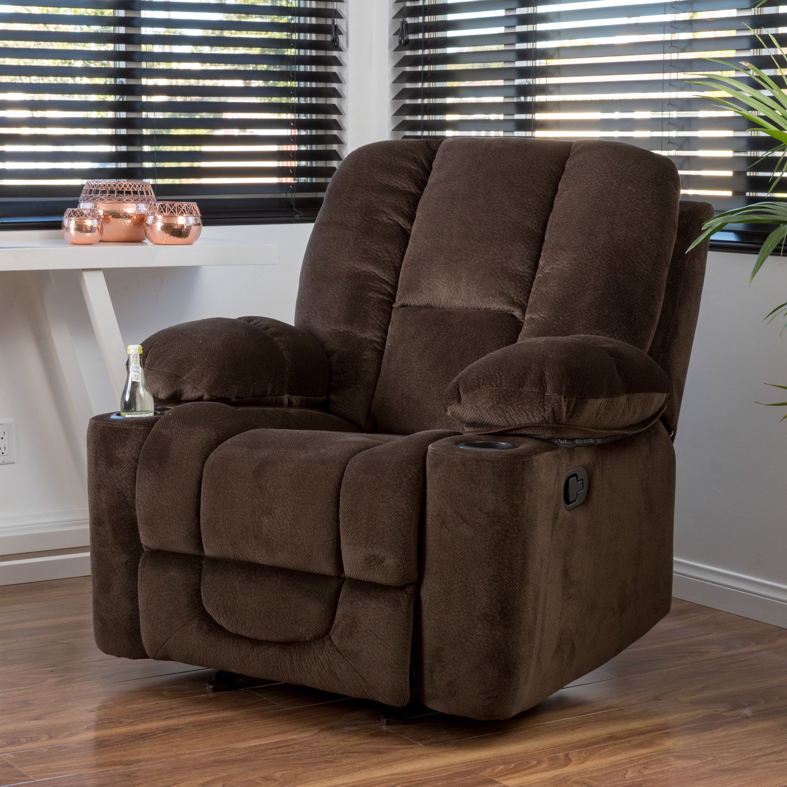 Shop Gannon Fabric Glider Recliner Club Chairchristopher Knight With Regard To 2019 Gannon Linen Power Swivel Recliners (View 3 of 20)