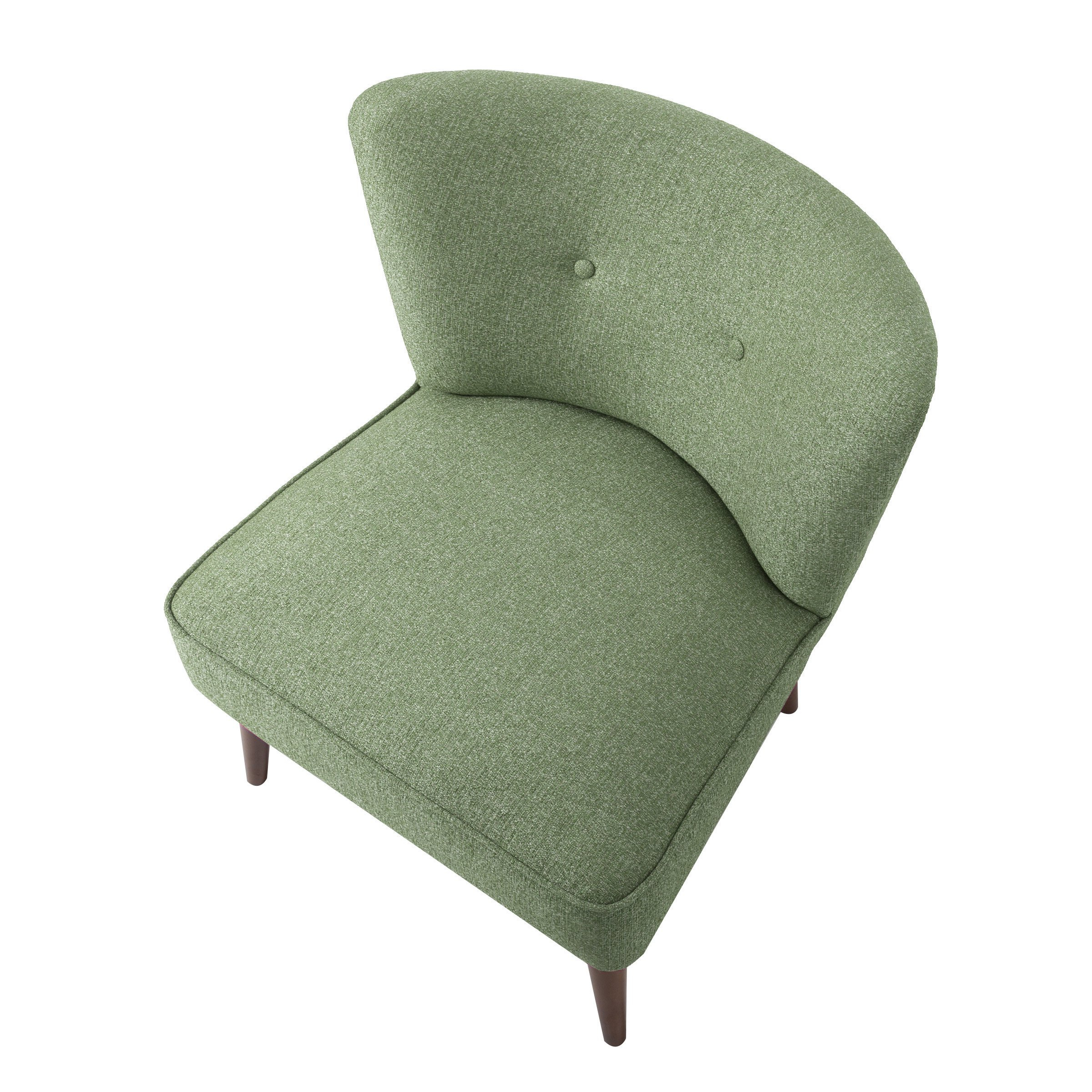 Shop Homepop Chadwick Armless Accent Chair – Teal – On Sale – Free In Current Chadwick Gunmetal Swivel Chairs (View 16 of 20)