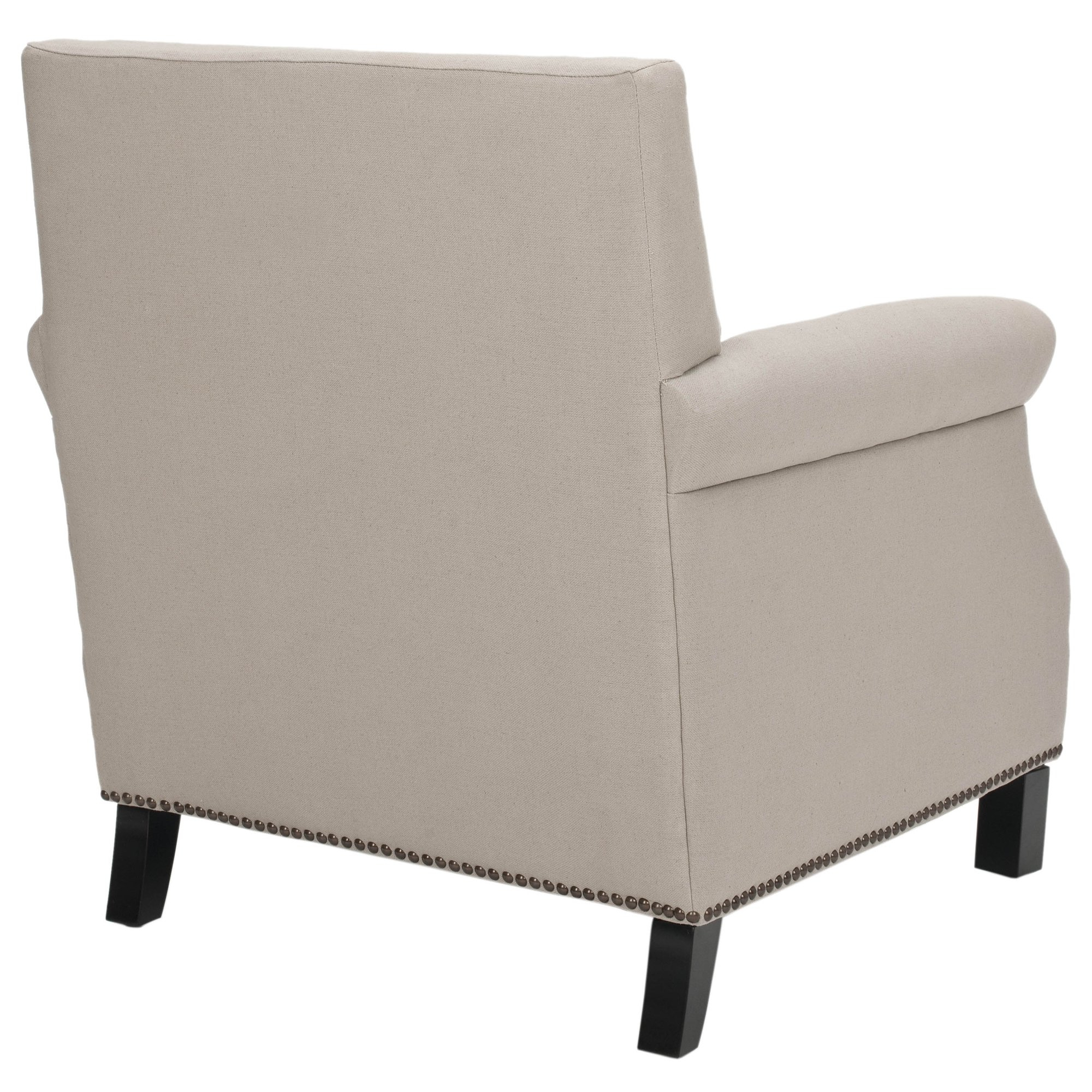 Shop Safavieh Mansfield Beige Club Chair – Free Shipping Today In Fashionable Mansfield Beige Linen Sofa Chairs (View 17 of 20)