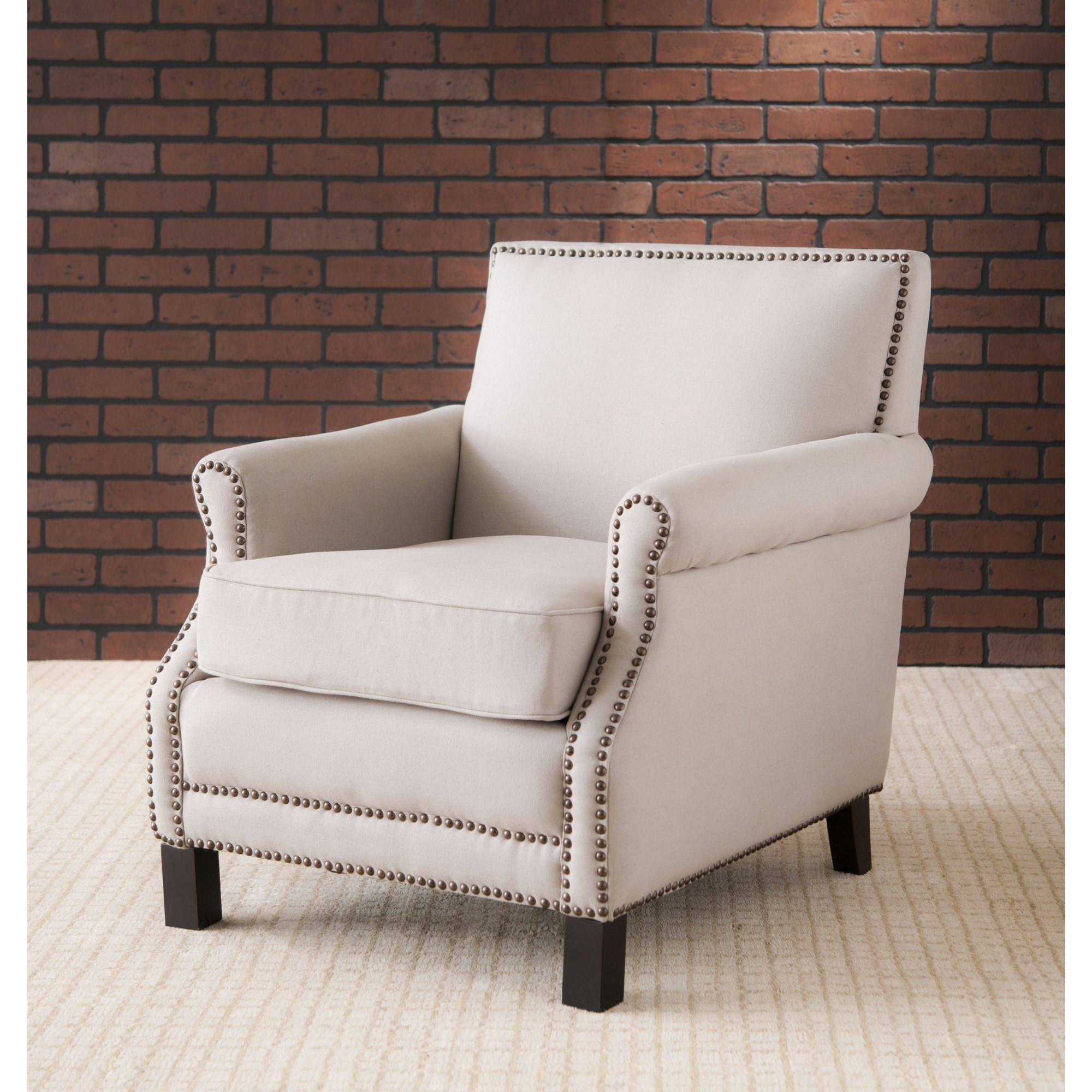 Shop Safavieh Mansfield Beige Club Chair – Free Shipping Today With Regard To Famous Mansfield Beige Linen Sofa Chairs (Gallery 2 of 20)