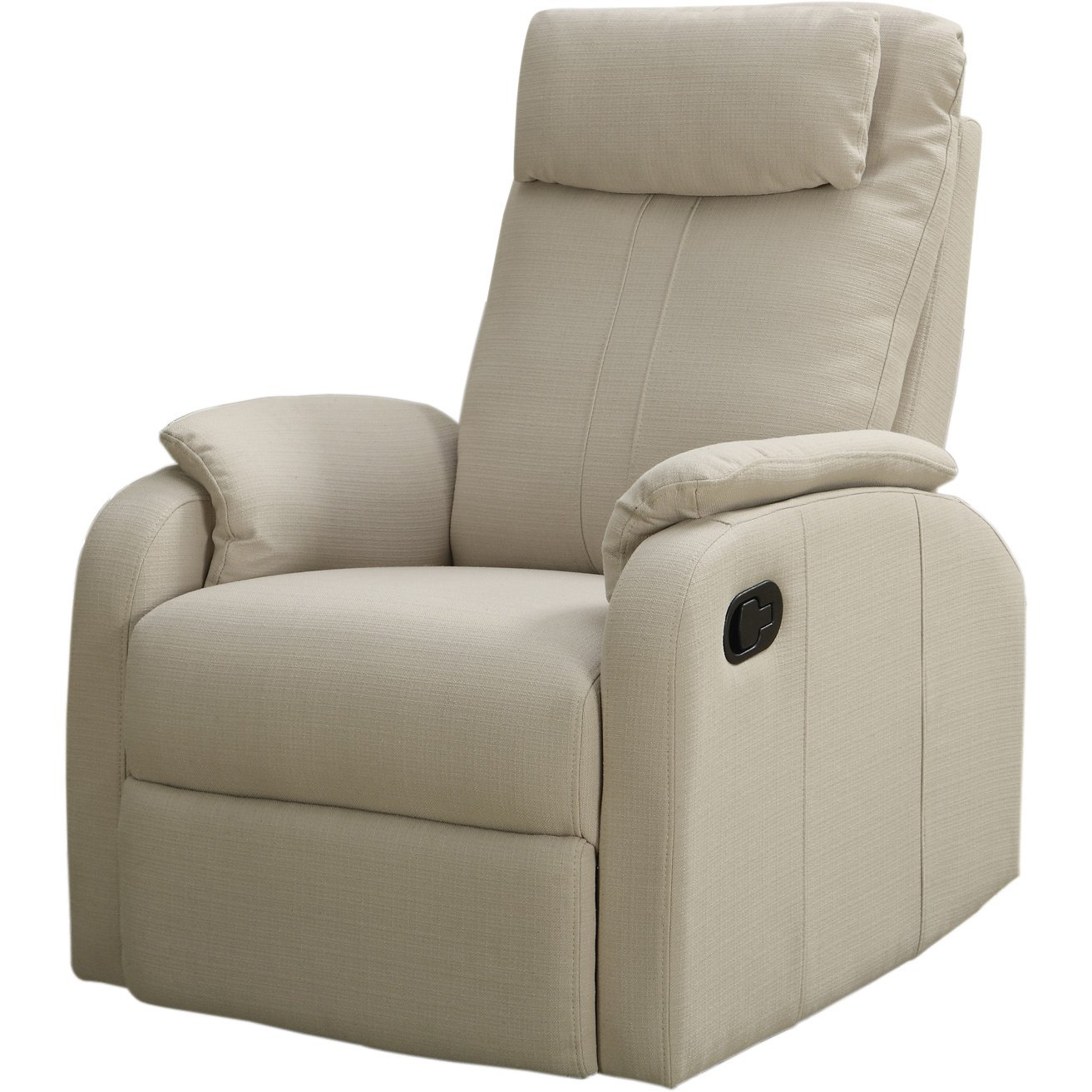 Shop Sand Linen Fabric Swivel Rocker Recliner – Free Shipping Today Intended For Most Popular Gannon Linen Power Swivel Recliners (View 19 of 20)