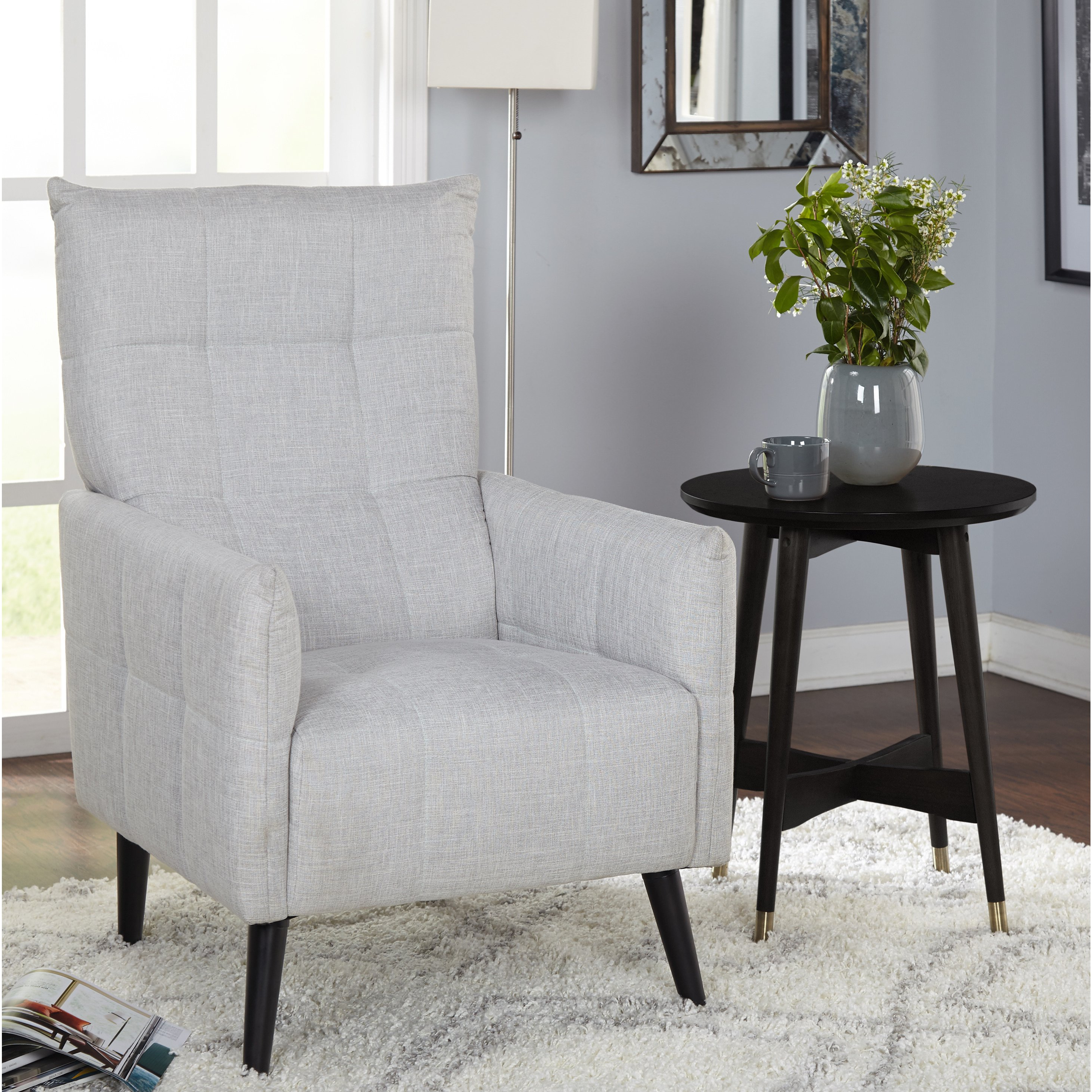 Shop Simple Living Gwen Mid Century Accent Chair – Free Shipping In Well Liked Gwen Sofa Chairs (View 18 of 20)