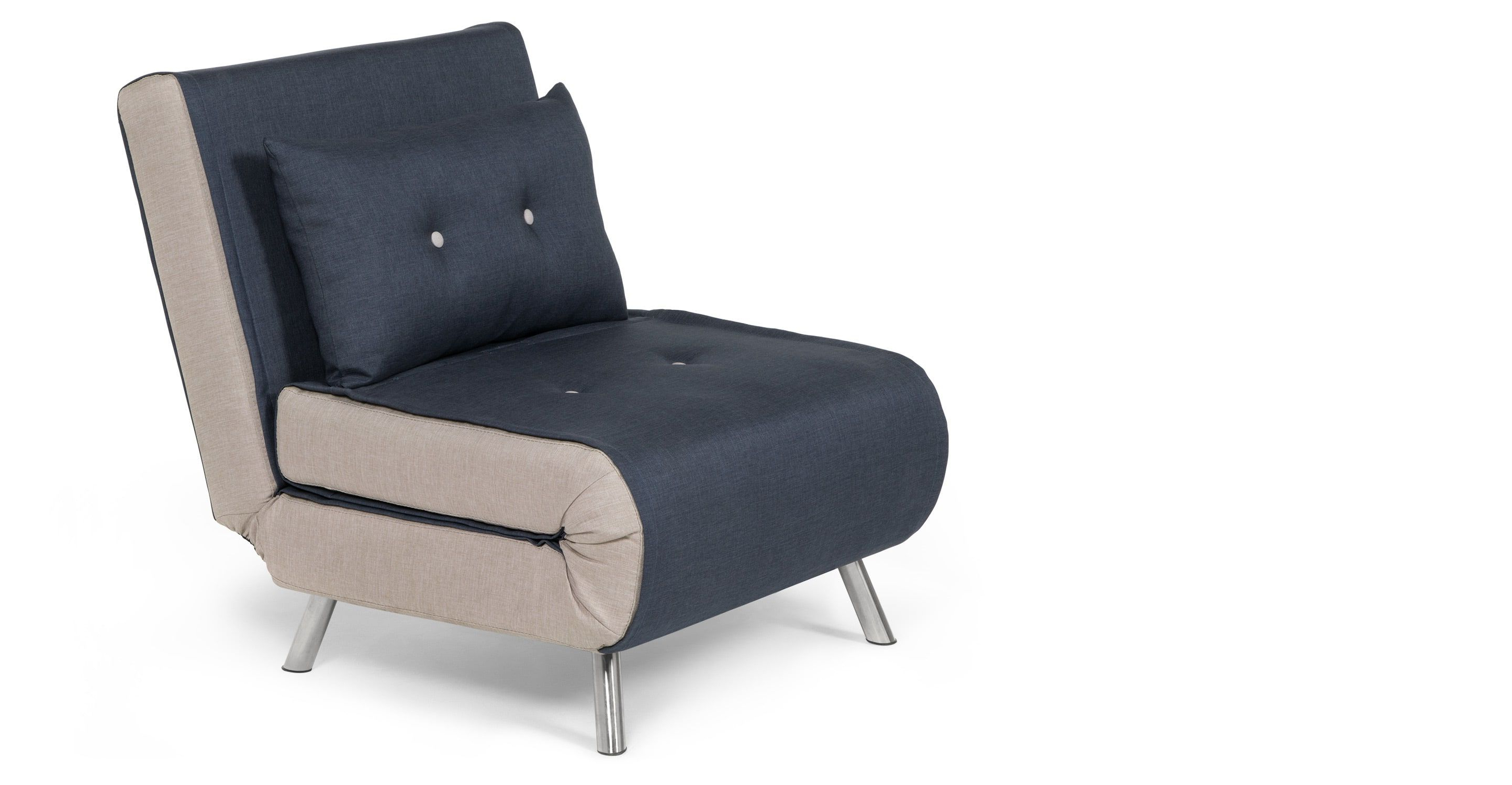 Single Chair Sofa Bed For Widely Used Made Single Sofa Bed, Quartz Blue. Upholstered (View 6 of 20)