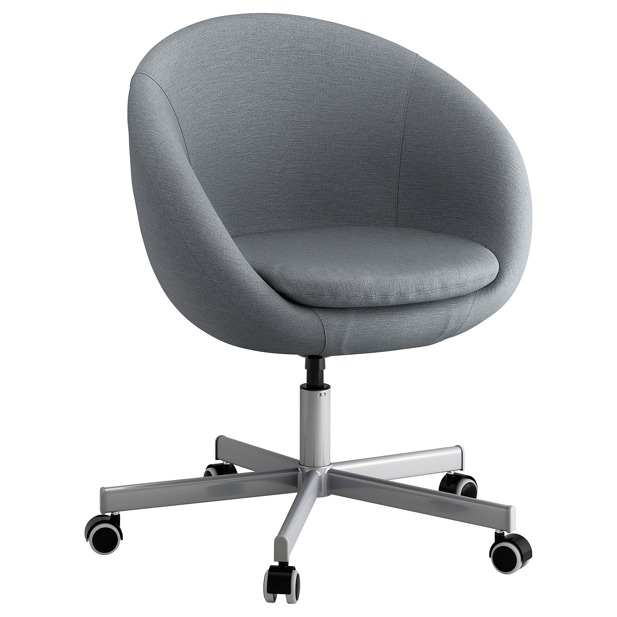 Skruvsta Swivel Chair Flackarp Medium Grey – Ikea Throughout 2019 Grey Swivel Chairs (Gallery 11 of 20)