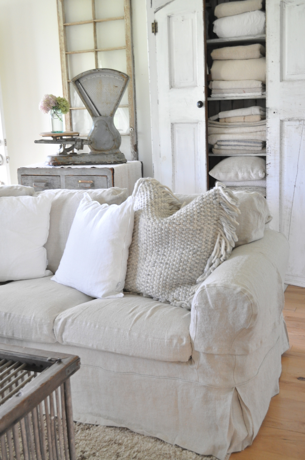 Slipcovers For Sofas And Chairs With Regard To Fashionable Sofa Slipcovers – Becky's Farmhouse (View 15 of 20)