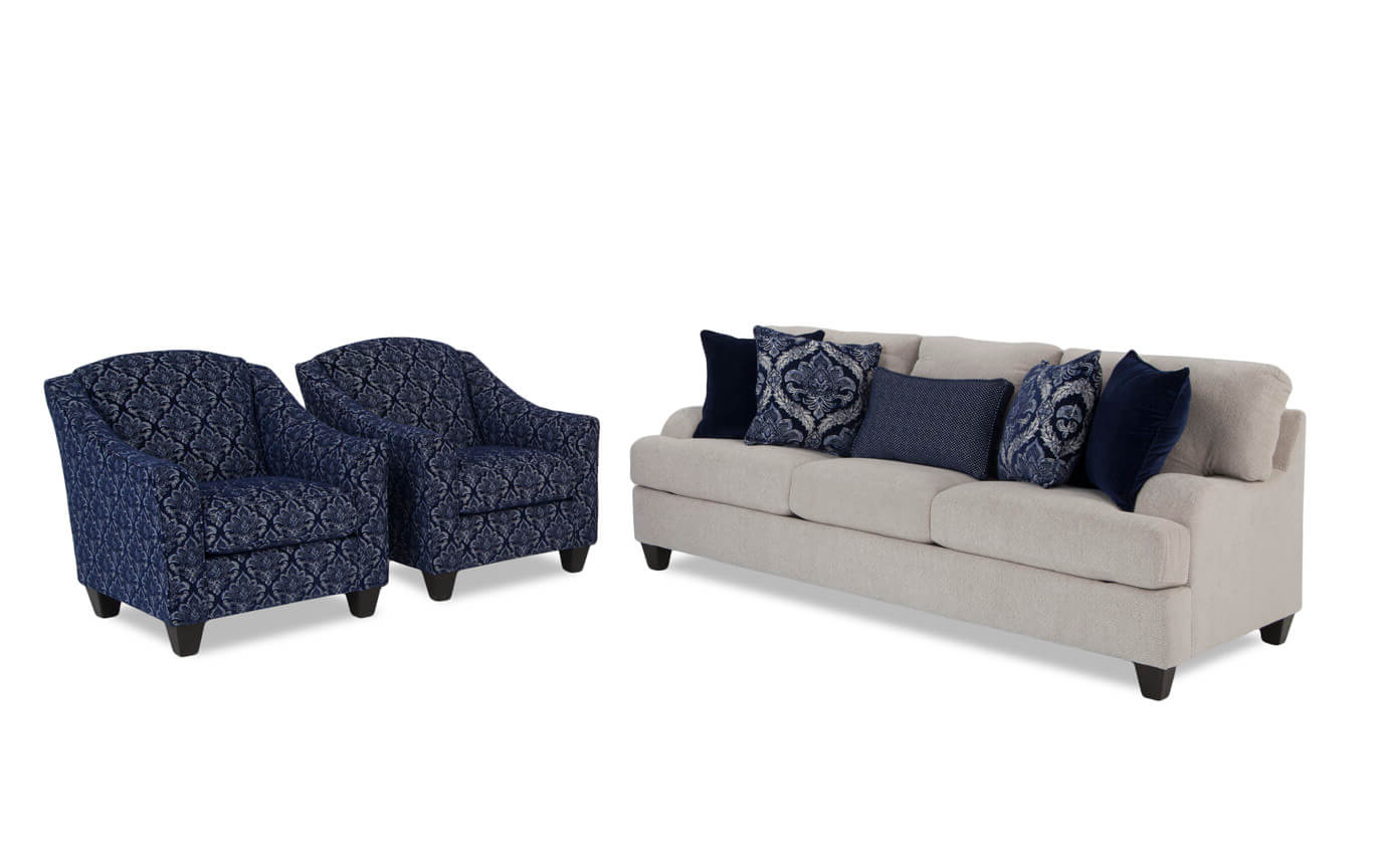 Sofa And Chair Set Intended For Preferred Hamptons Sofa And Accent Chair Set (Gallery 11 of 20)