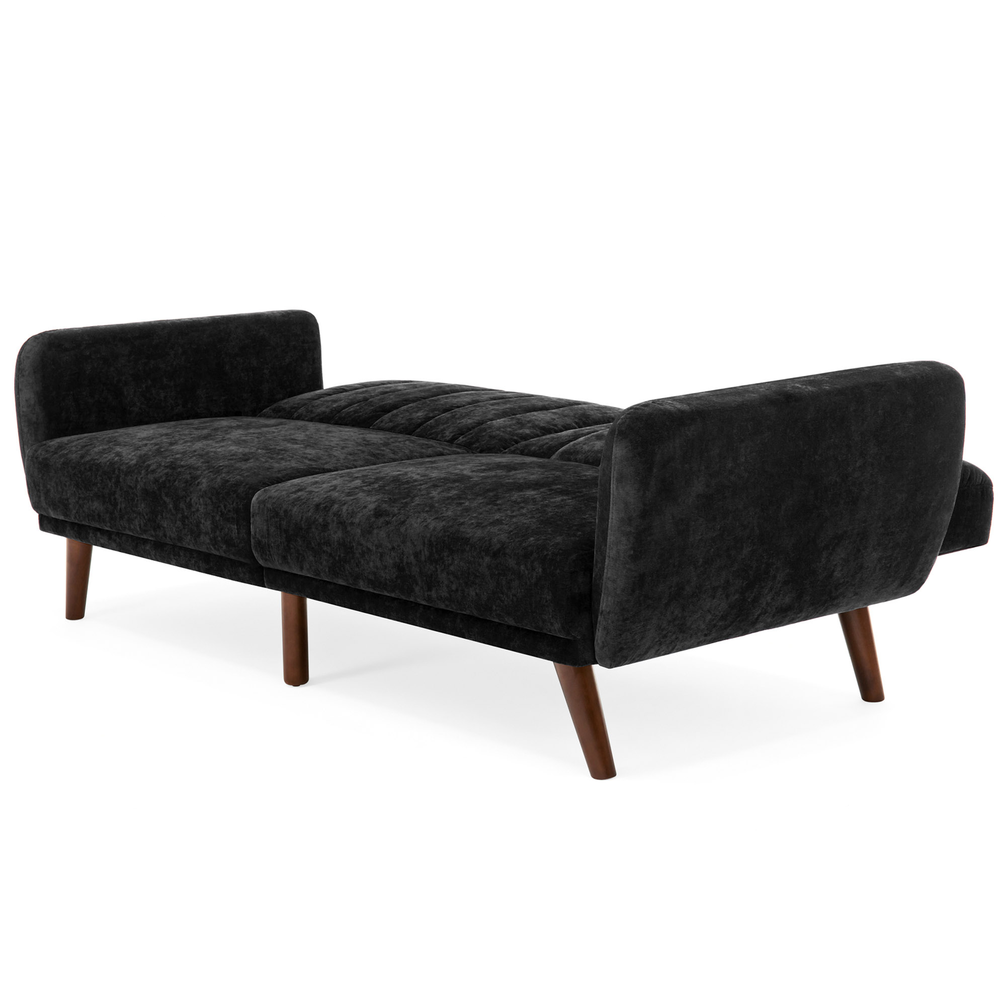 Sofa Bed Chairs Regarding Most Popular Bestchoiceproducts: Best Choice Products Velour Fold Down Futon Sofa (View 17 of 20)