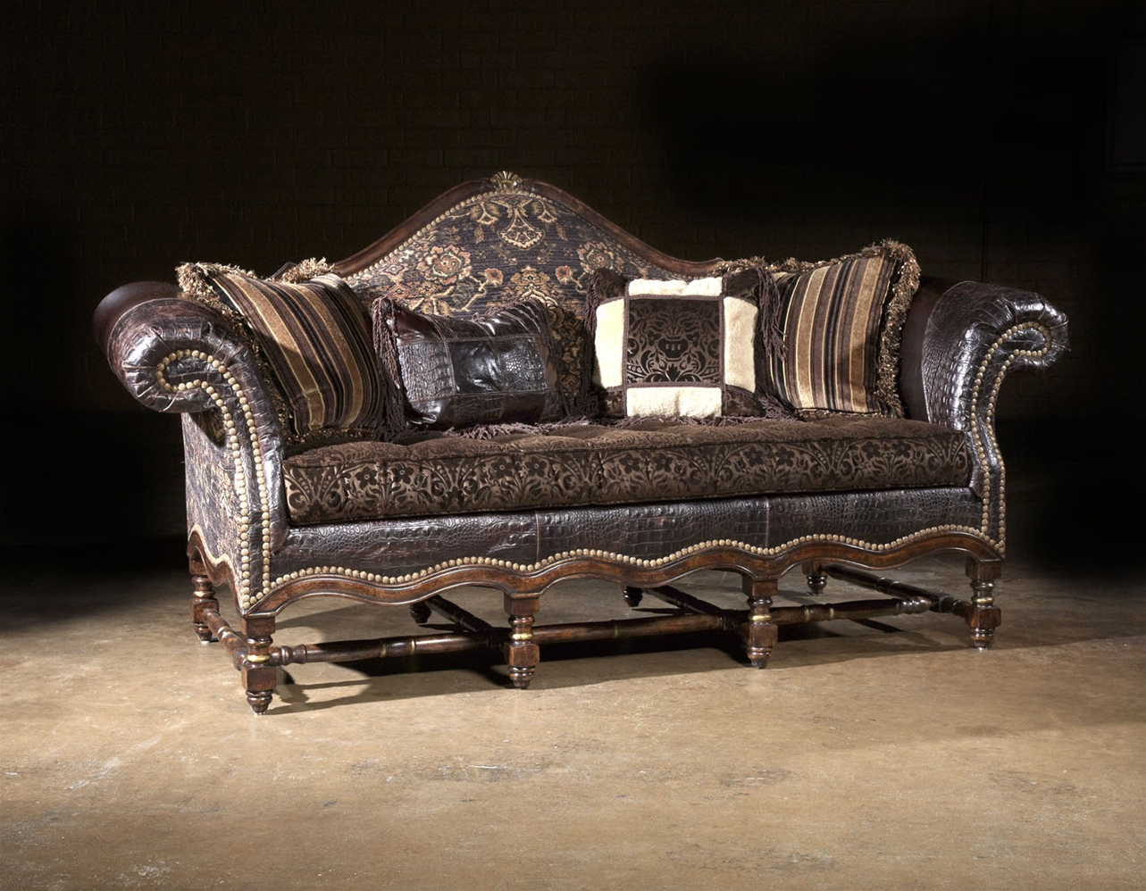 Sofa Chair And Ottoman Regarding Famous Cool Western Style Furniture Custom Sofa Chair Ottoman (View 14 of 20)