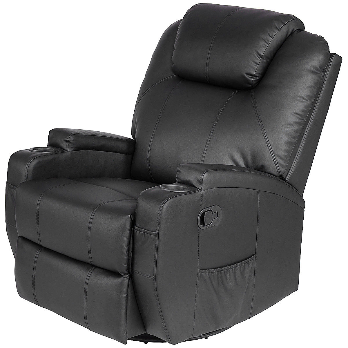Sofa Chair Recliner Intended For Most Popular Costway: Costway Electric Massage Recliner Sofa Chair Heated  (View 14 of 20)