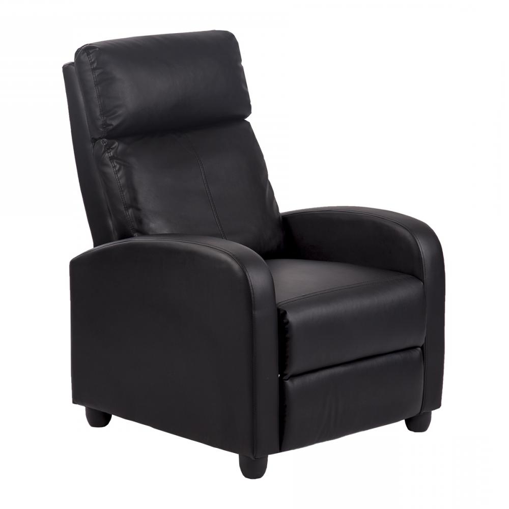 Sofa Chair Recliner With Well Liked Recliner Chair Modern Leather Chaise Couch Single Accent Recliner (View 16 of 20)