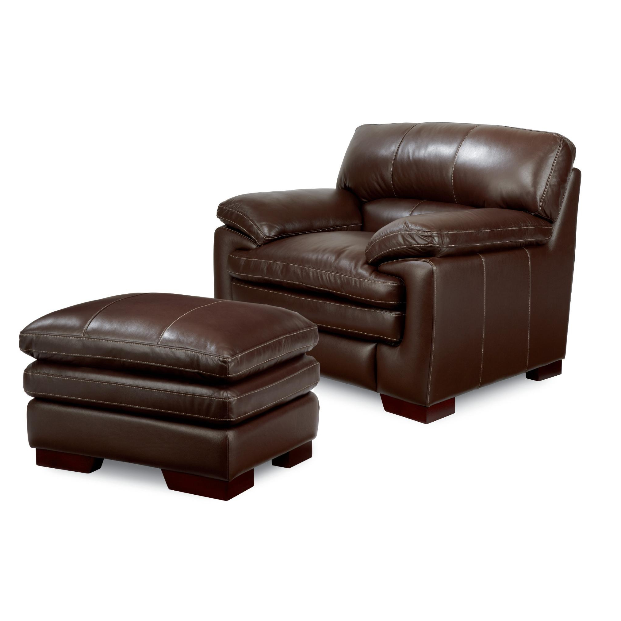 Sofa Chair With Ottoman Pertaining To 2018 Casual Upholstered Stationary Chair And Ottoman Setla Z Boy (View 13 of 20)