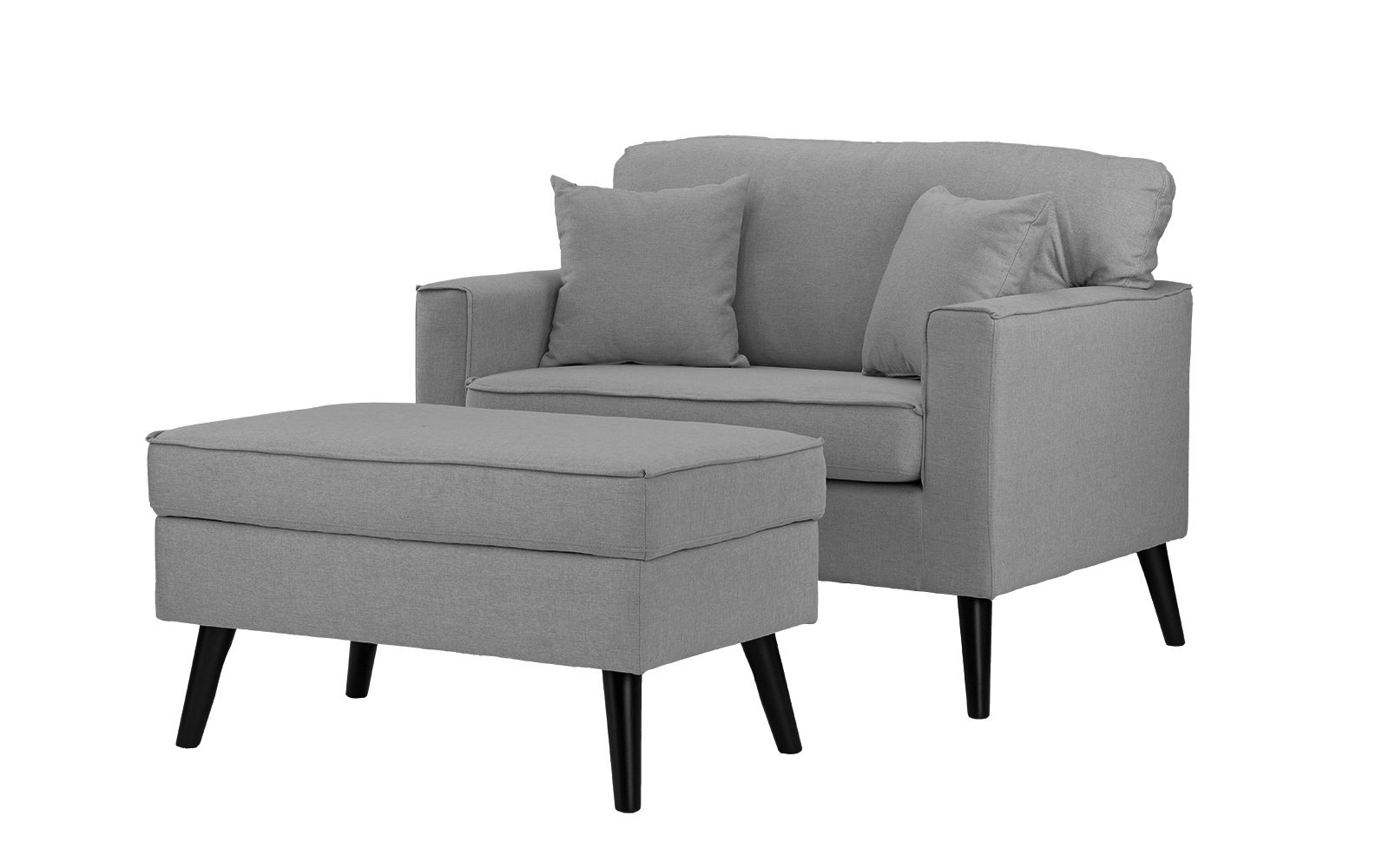 Sofa Chair With Ottoman Throughout Recent Timothy Modern Accent Chair With Footrest And Storage Compartment (View 15 of 20)