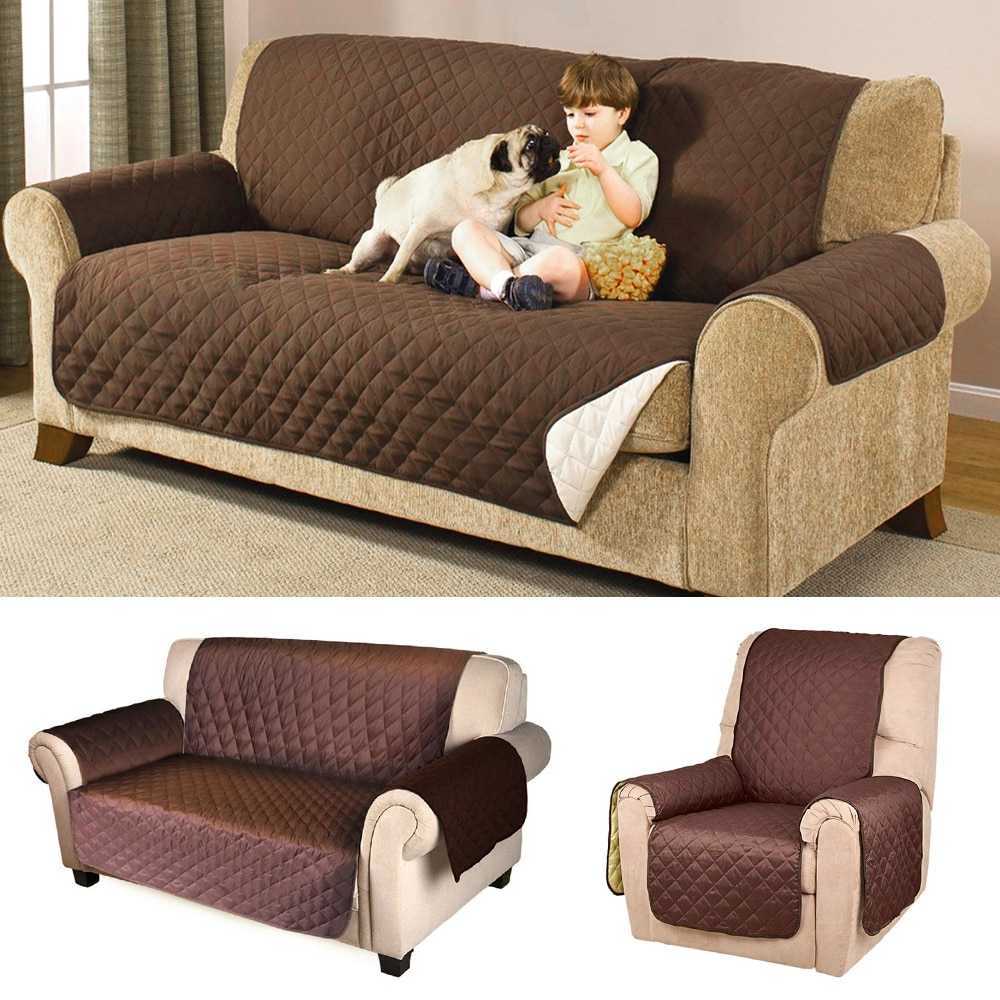 Sofa Cover Protector For Kids Dog/cat Pets Reversible Furniture Throughout Trendy Sofa And Chair Covers (View 18 of 20)