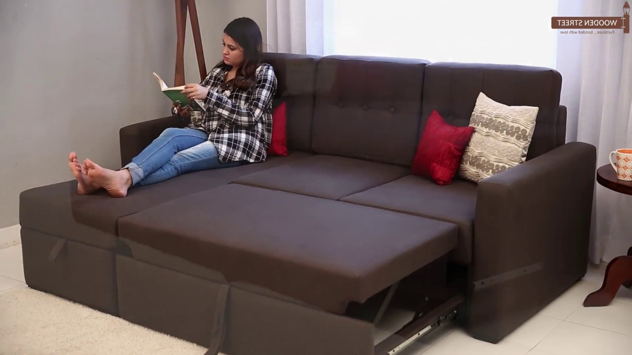 Sofa Cum Bed – Alfonso Convertible Fabric Sofa Cum Beds – Youtube Pertaining To Newest Sofa Bed Chairs (Gallery 16 of 20)